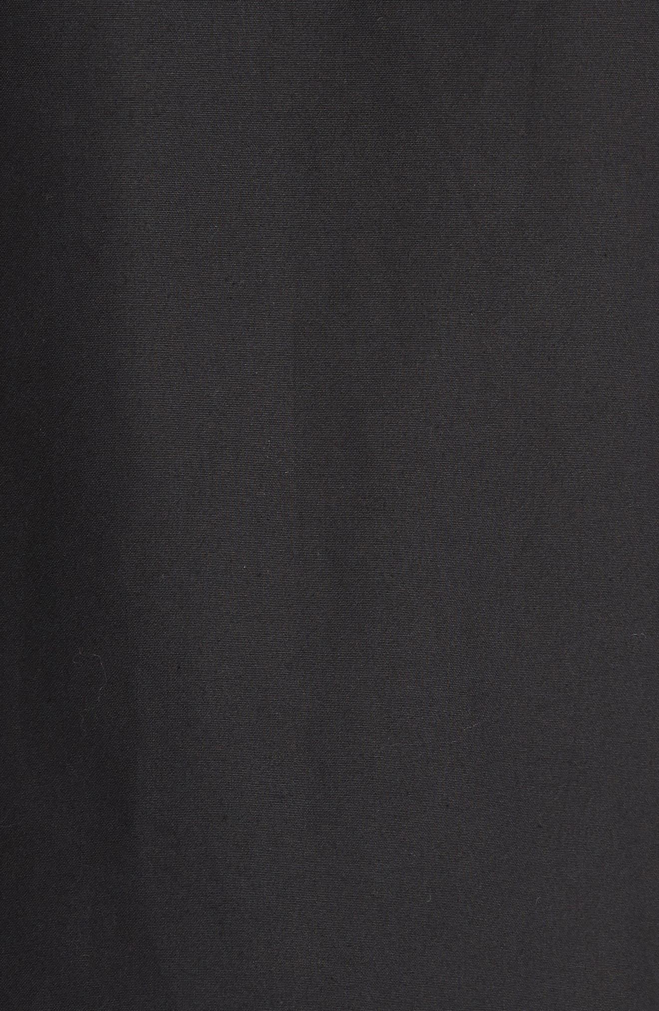 Harrington Waxed Cotton Jacket,                             Alternate thumbnail 7, color,                             BLACK