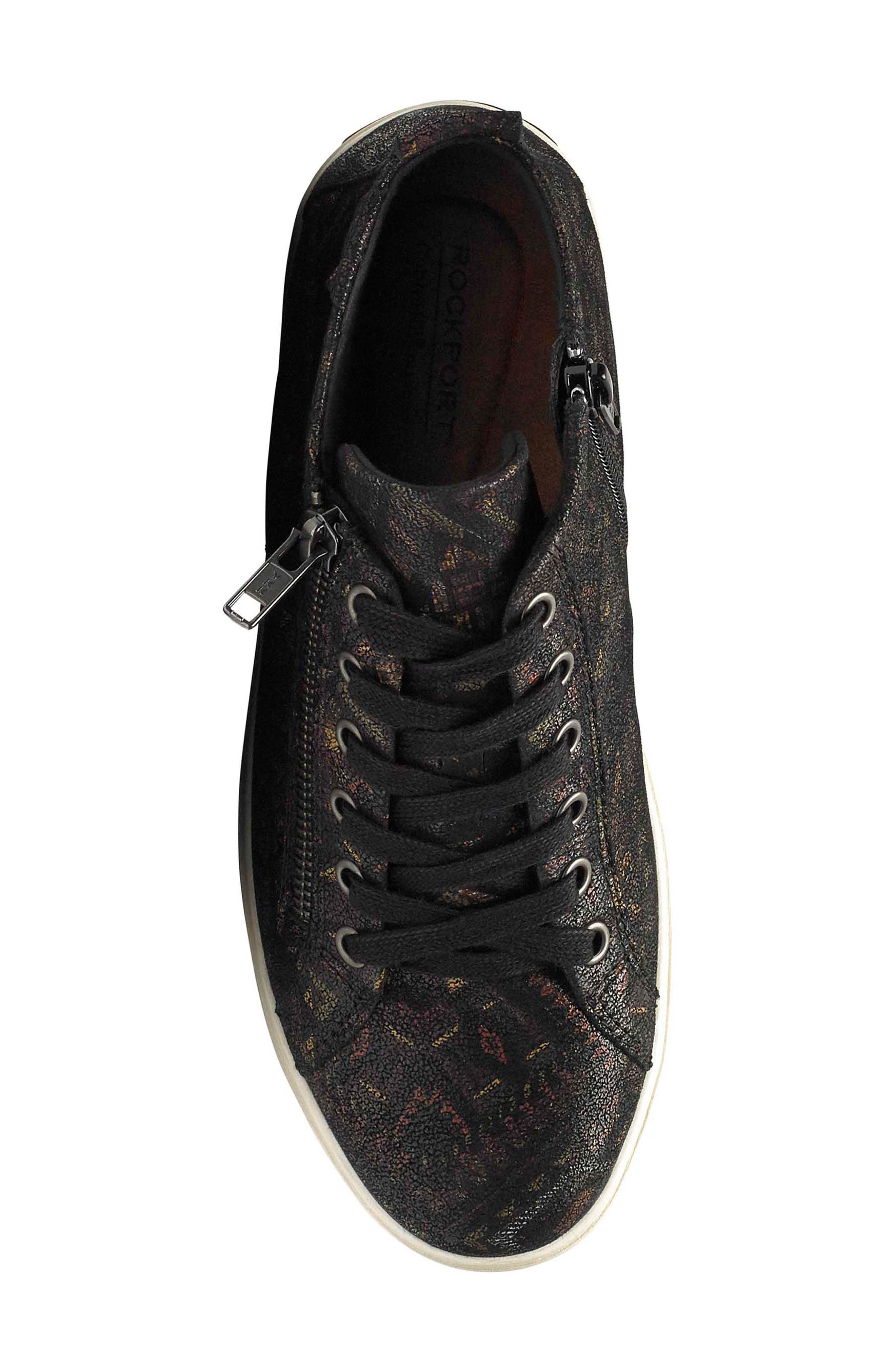 Willa High Top Sneaker,                             Alternate thumbnail 5, color,                             NOVELTY PRINT LEATHER