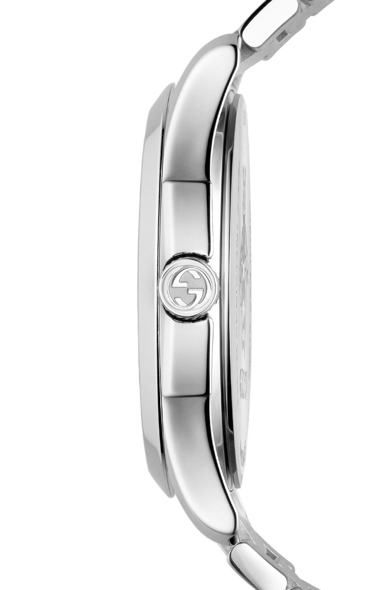 G-Timeless Bracelet Watch, 38mm,                             Alternate thumbnail 3, color,                             SILVER