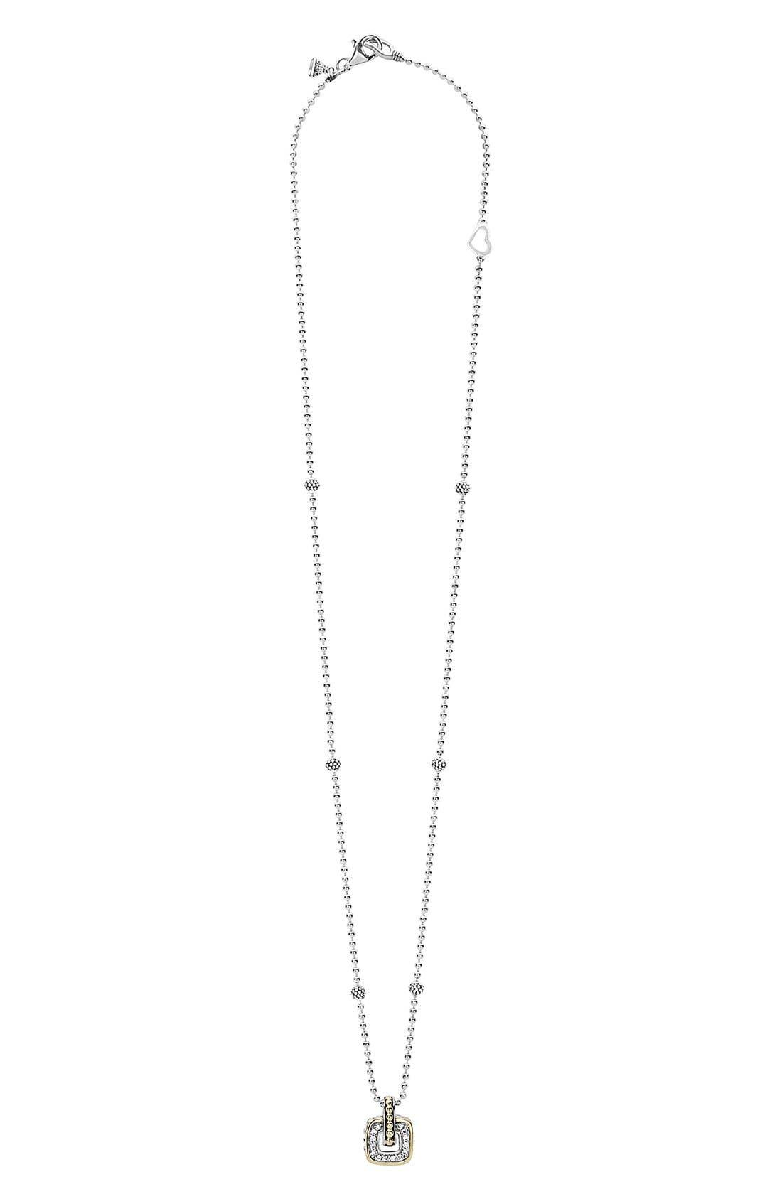 'Cushion' Small Pendant Necklace,                             Alternate thumbnail 3, color,                             040