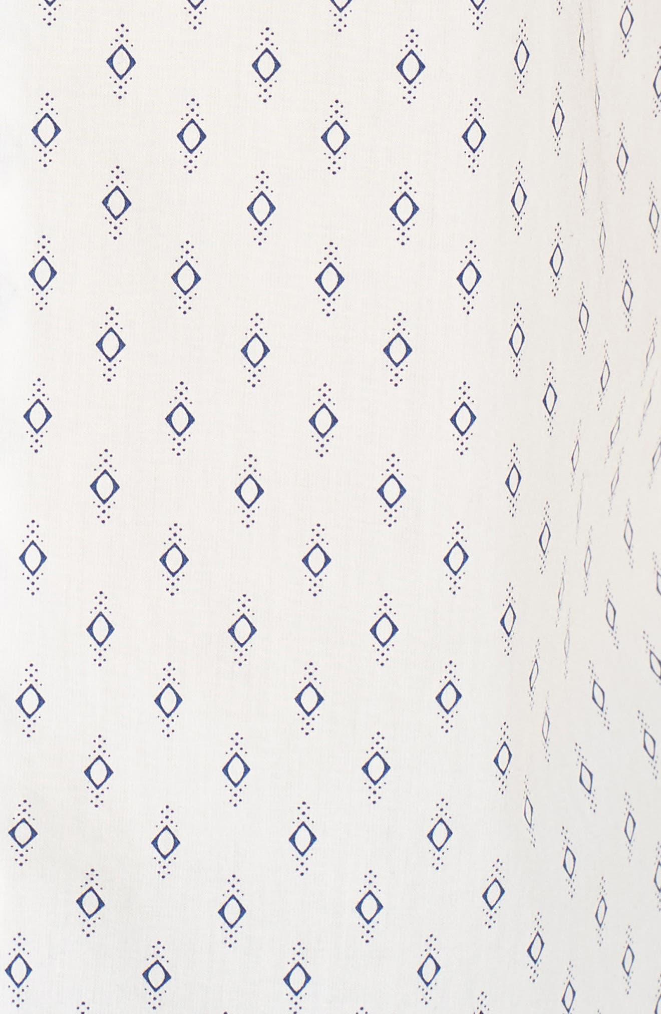 Classic Fit Print Woven Shirt,                             Alternate thumbnail 5, color,                             COMBO B