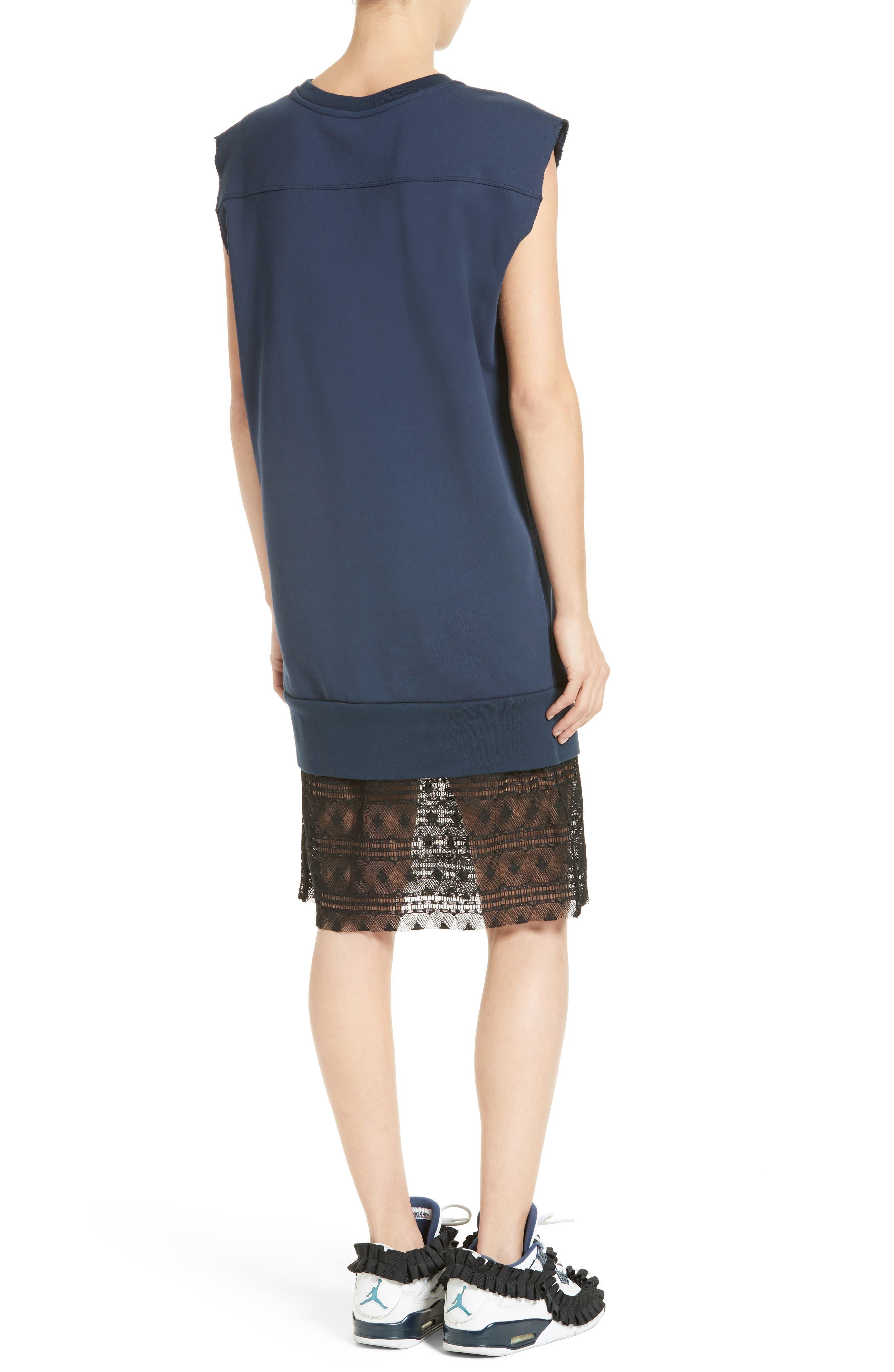 Tesa Lace Trim Sweatshirt Dress,                             Alternate thumbnail 2, color,                             400