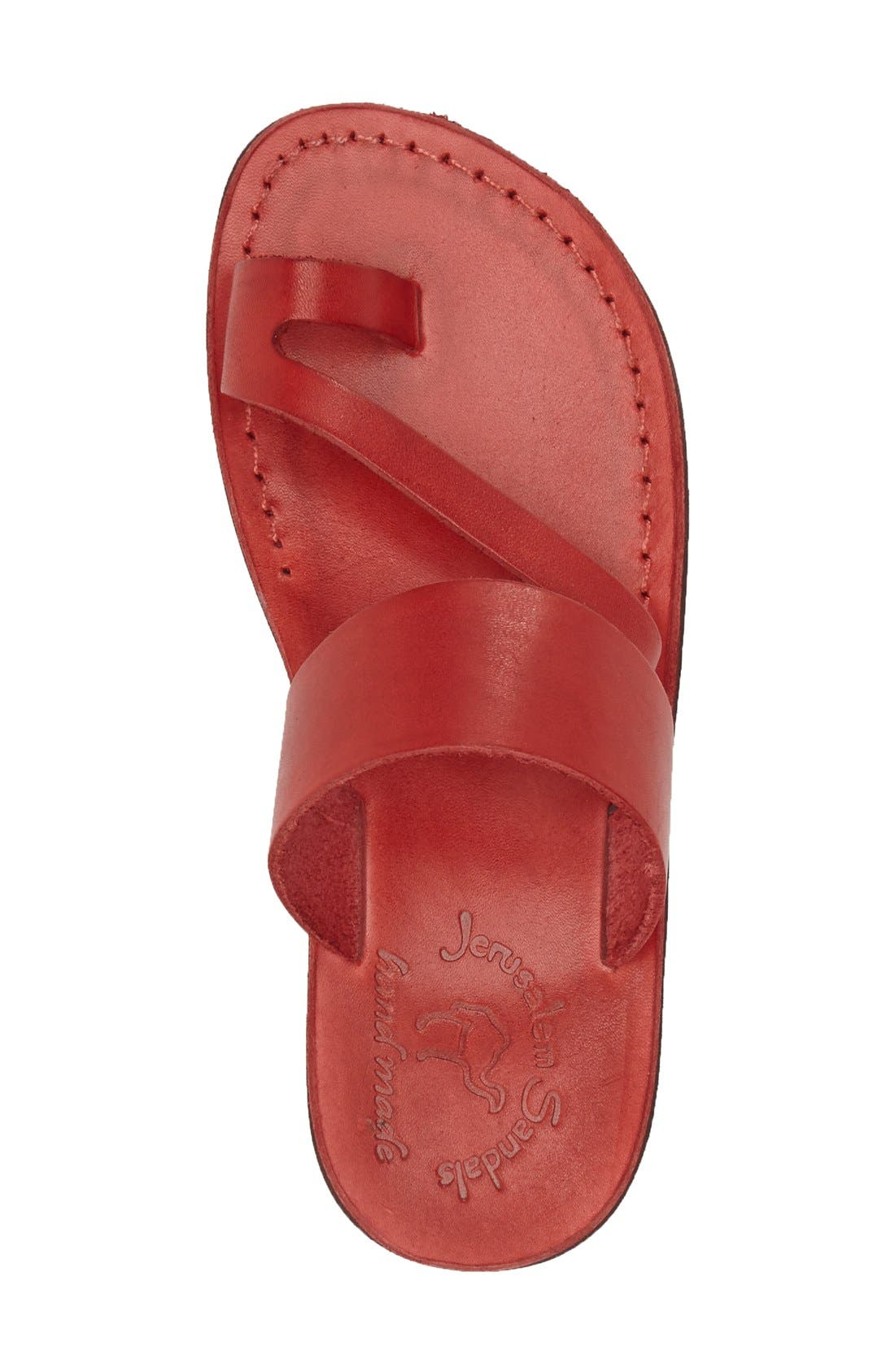 'Zohar' Leather Sandal,                             Alternate thumbnail 18, color,