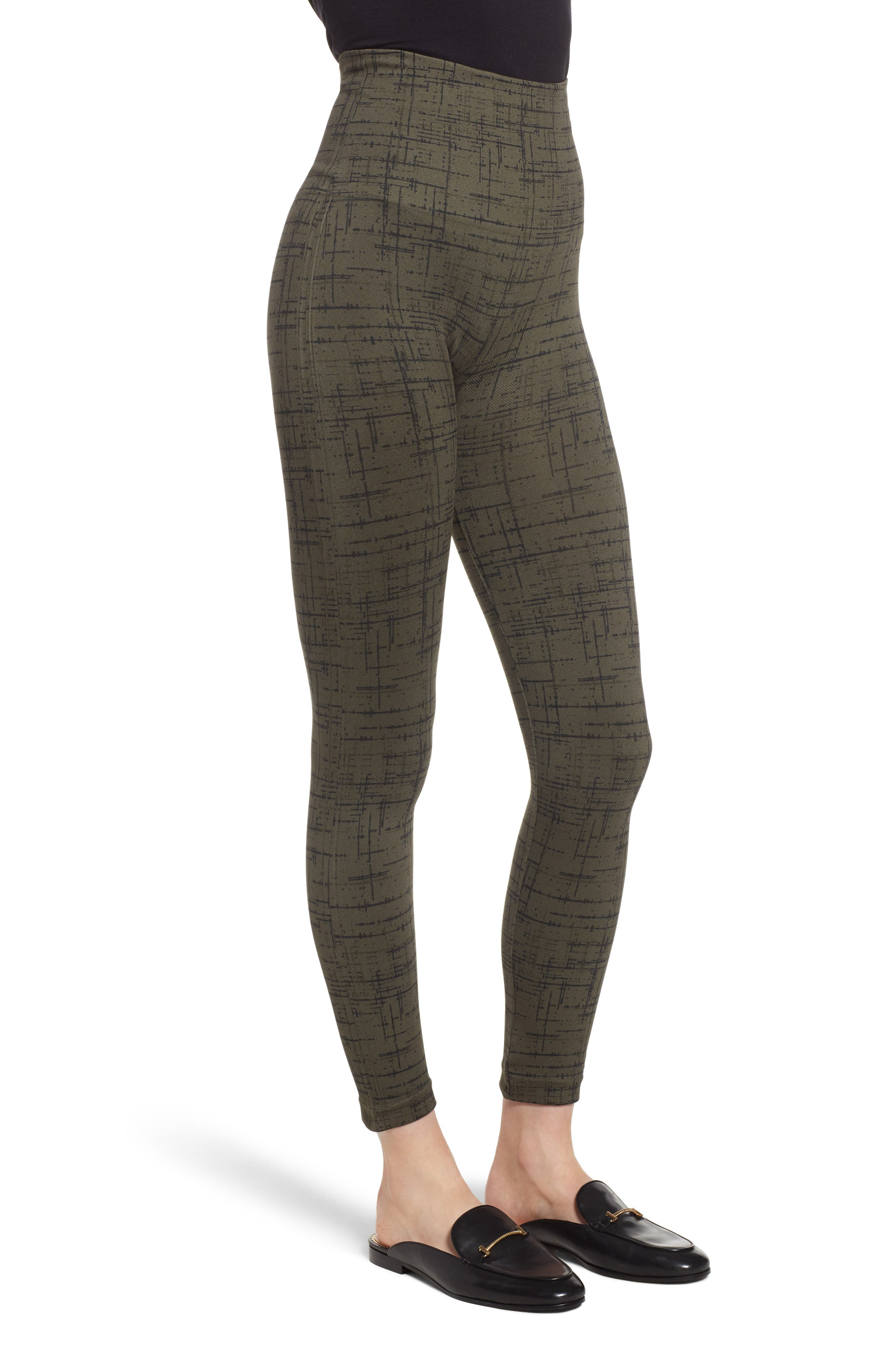 Look at Me Now' Seamless Leggings,                             Alternate thumbnail 4, color,                             OLIVE CROSSHATCH