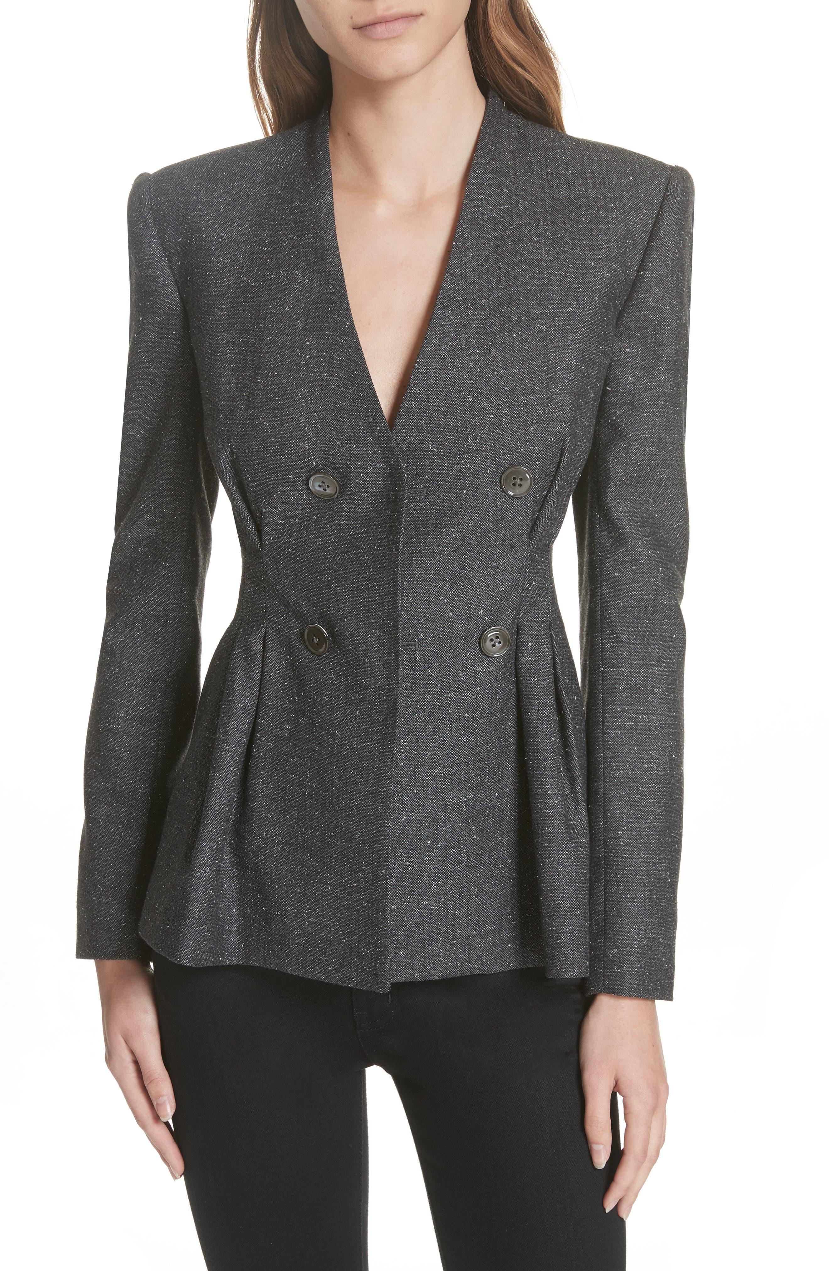 Herringbone Jacket,                         Main,                         color, GREY