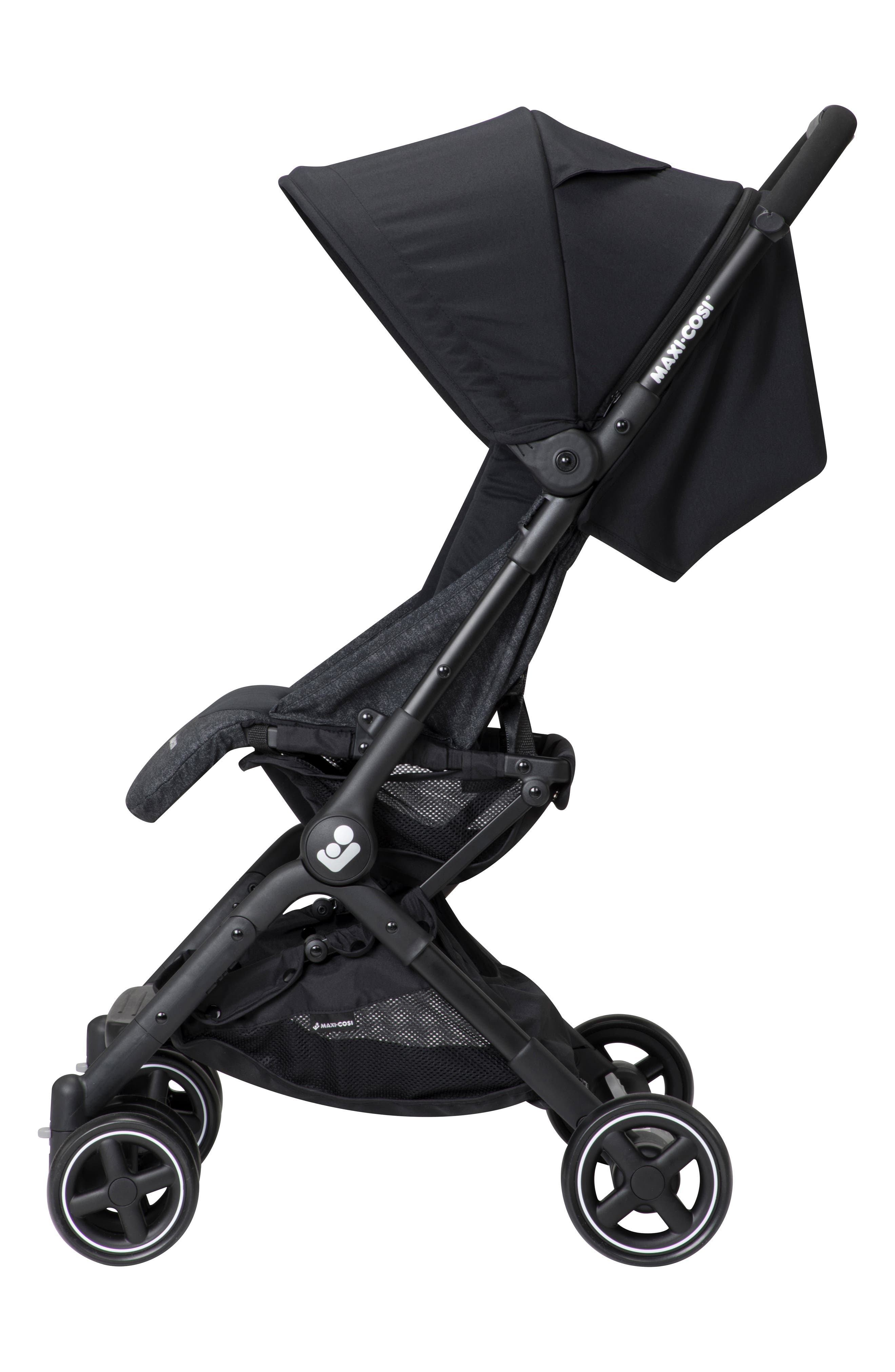 Lara Ultra Compact Stroller,                             Alternate thumbnail 7, color,                             NOMAD BLACK