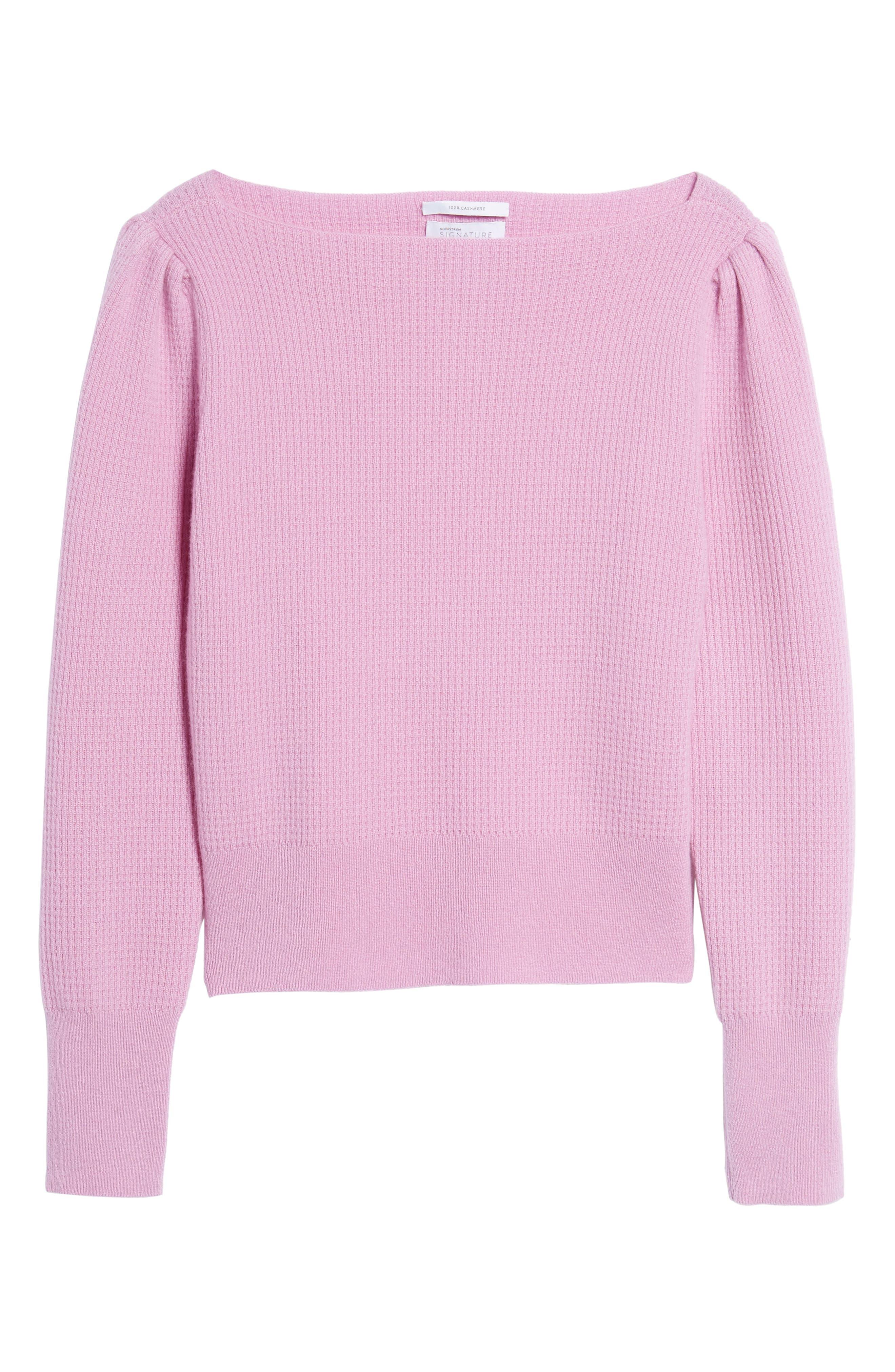 Waffle Stitch Cashmere Sweater,                             Alternate thumbnail 12, color,