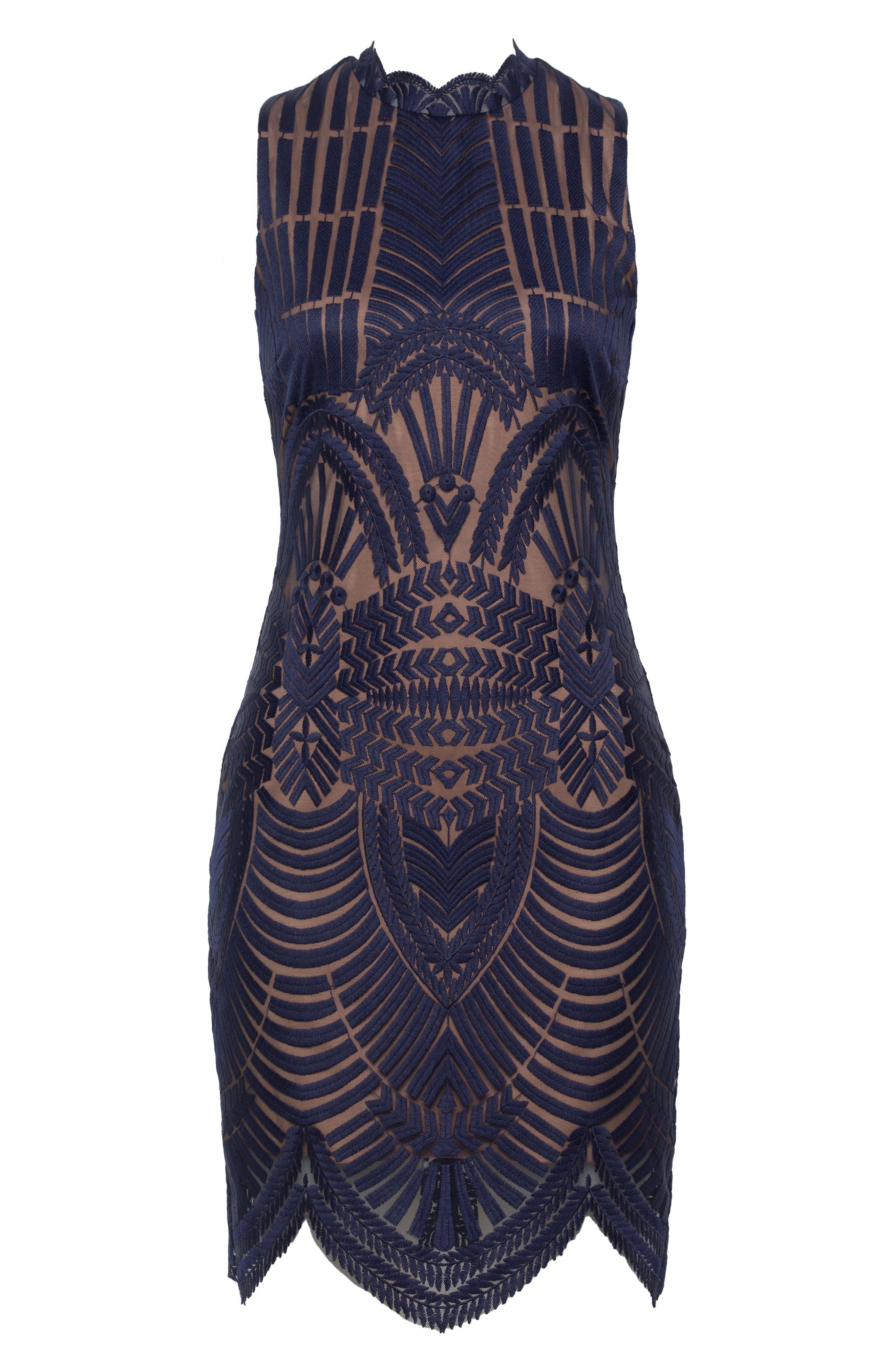 Alice Lace Body-Con Dress,                             Main thumbnail 1, color,                             TWILIGHT