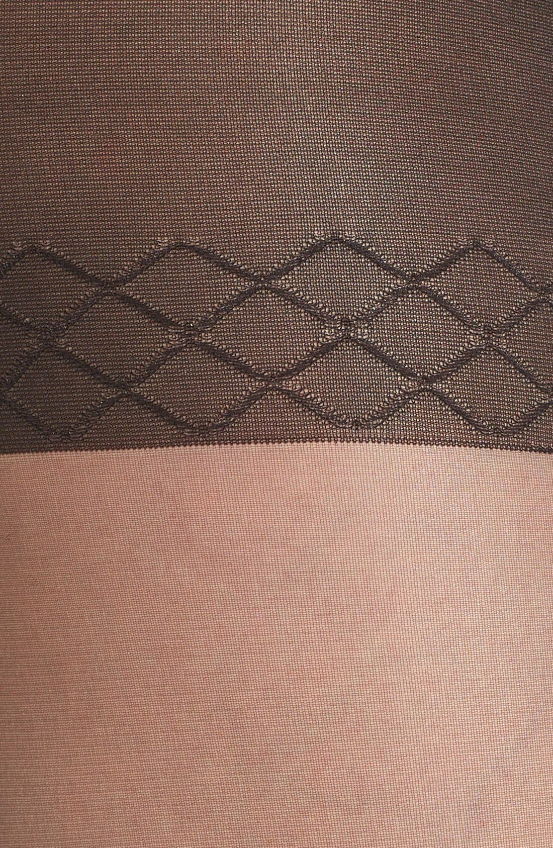 Sheer Control Top Pantyhose,                             Alternate thumbnail 2, color,                             001