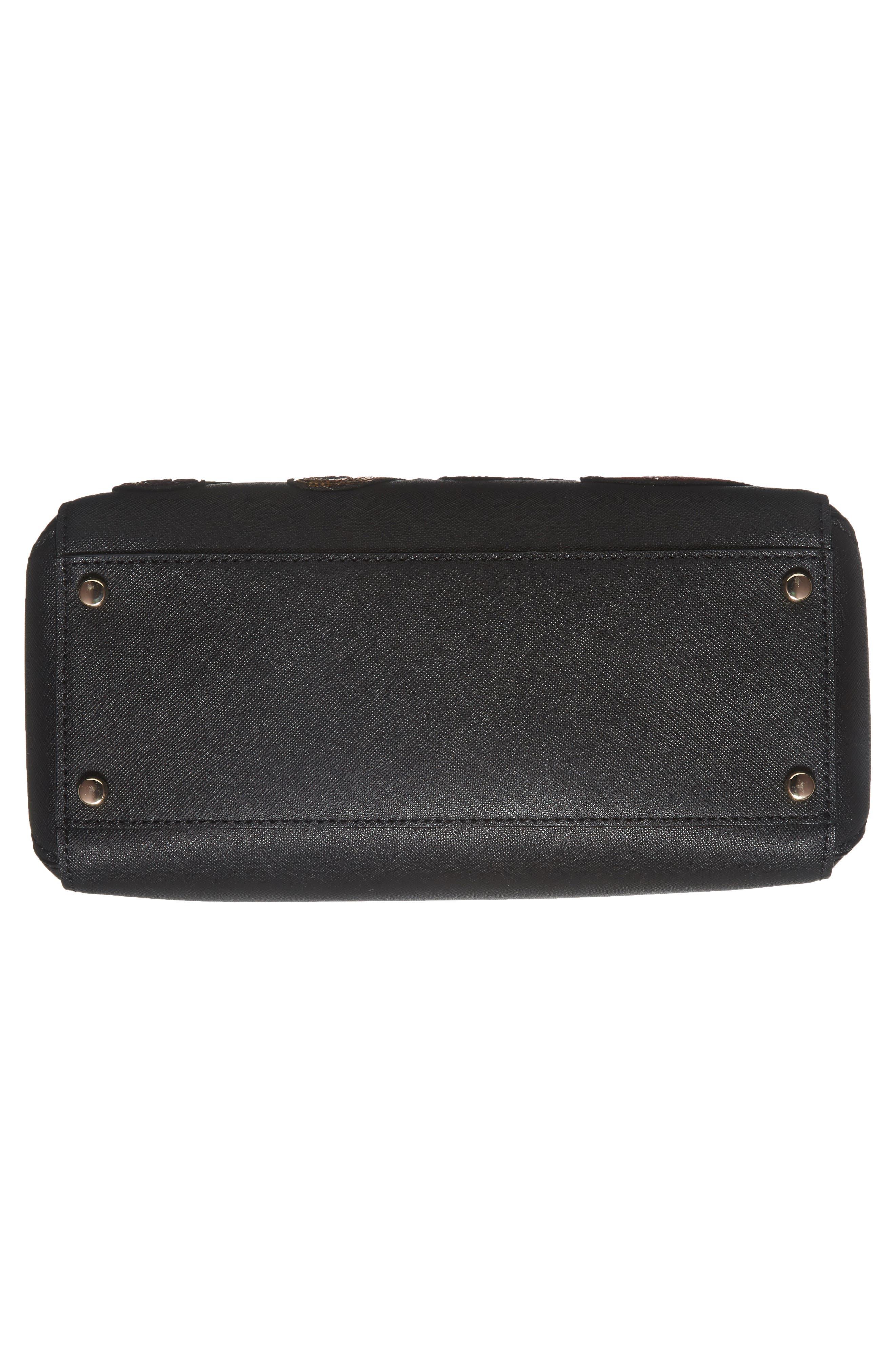 large lane - ma cherie leather satchel,                             Alternate thumbnail 6, color,                             001