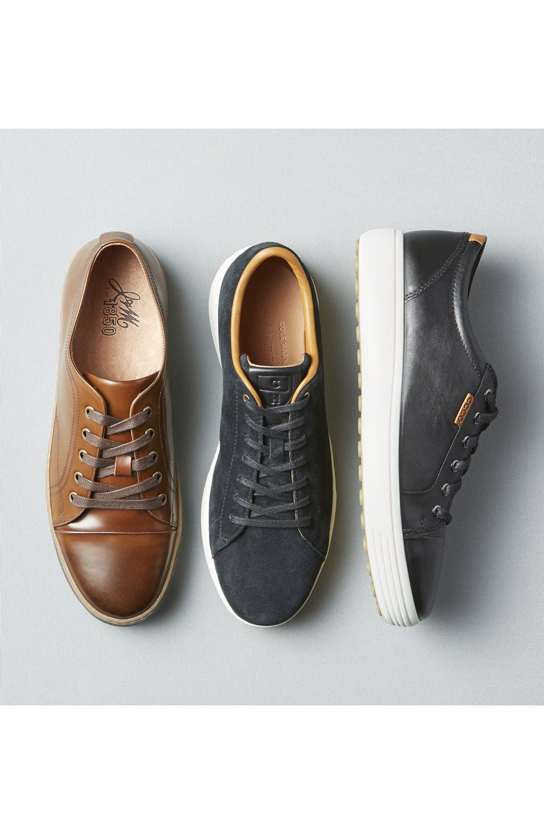 Soft VII Lace-Up Sneaker,                         Main,                         color, LICORICE LEATHER