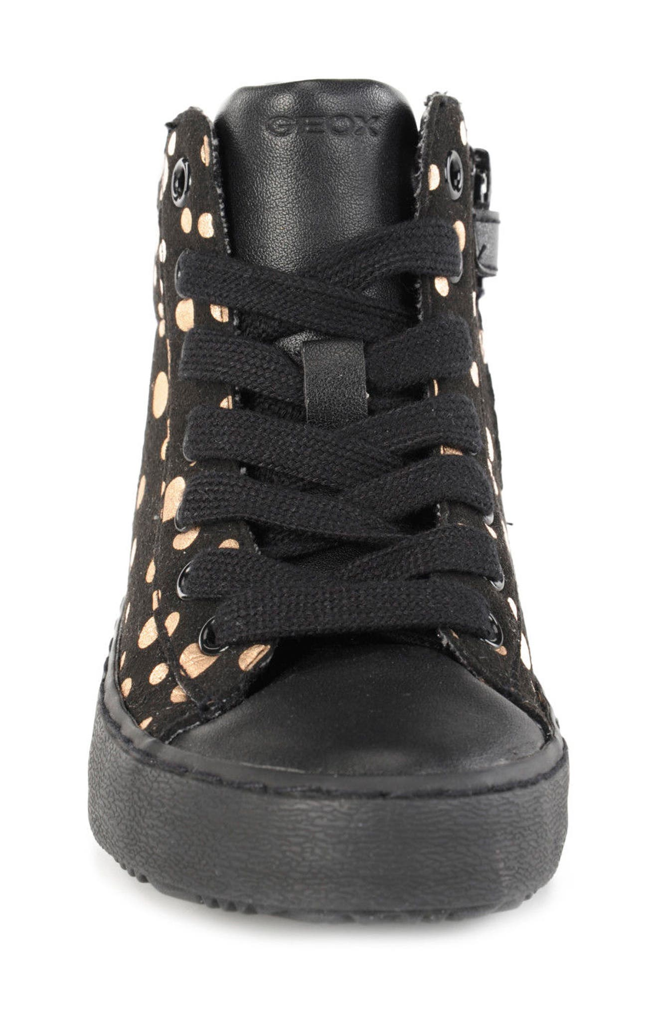 Kalispera Girl Dotted High Top Sneaker,                             Alternate thumbnail 4, color,                             016