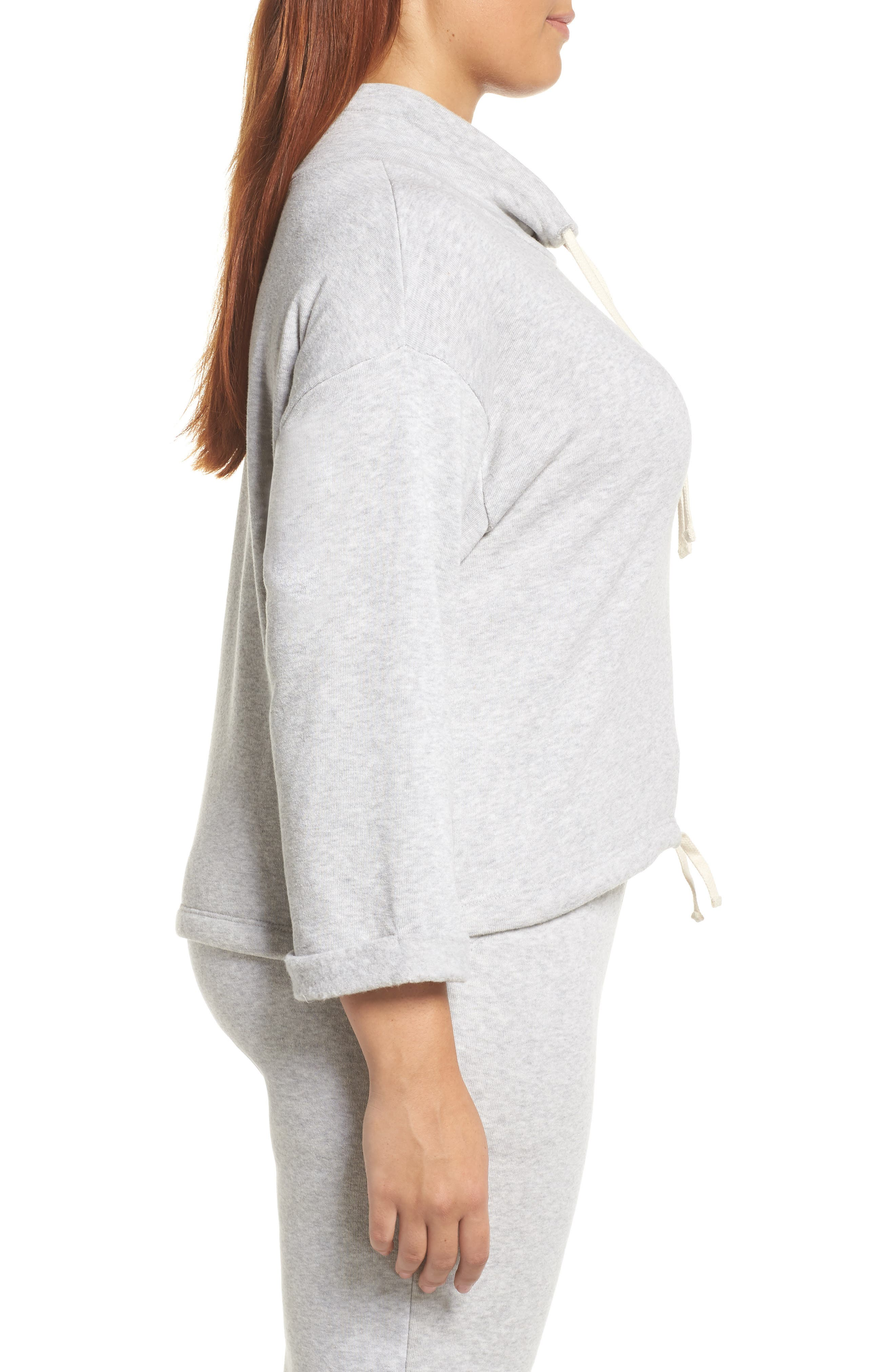 Drawstring Cowl Neck Pullover,                             Alternate thumbnail 10, color,                             ECO OATMEAL