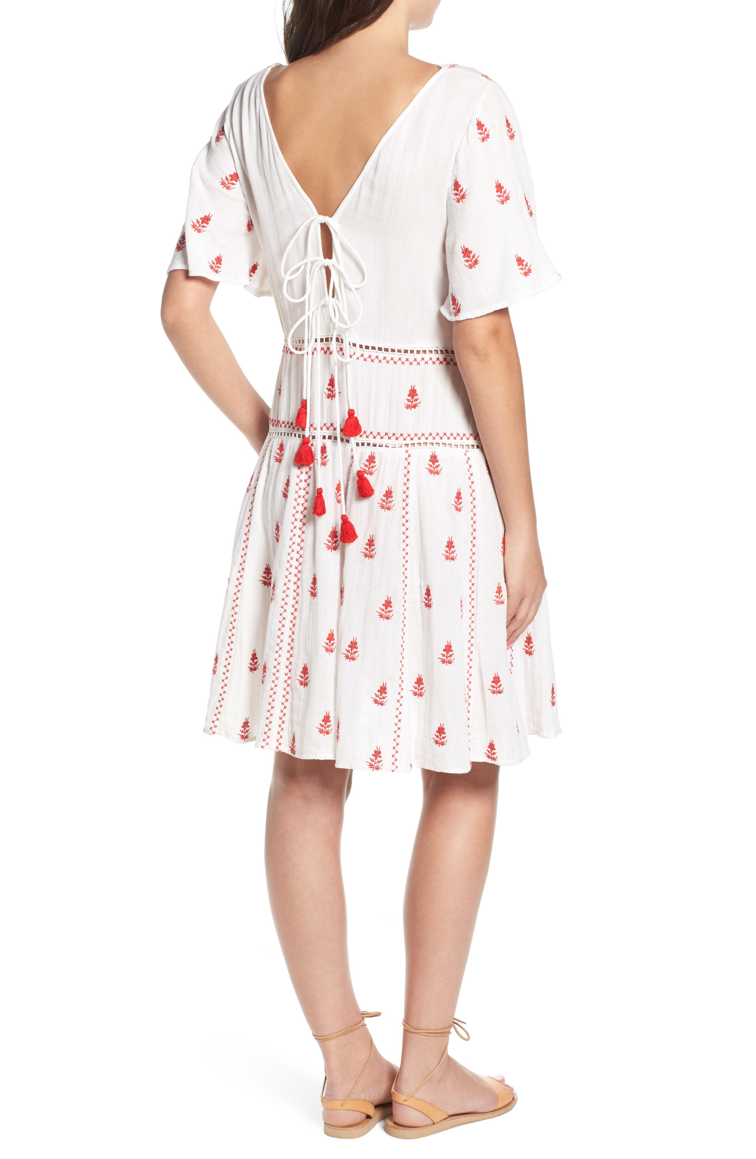 Ruby Embroidered Dress,                             Alternate thumbnail 2, color,