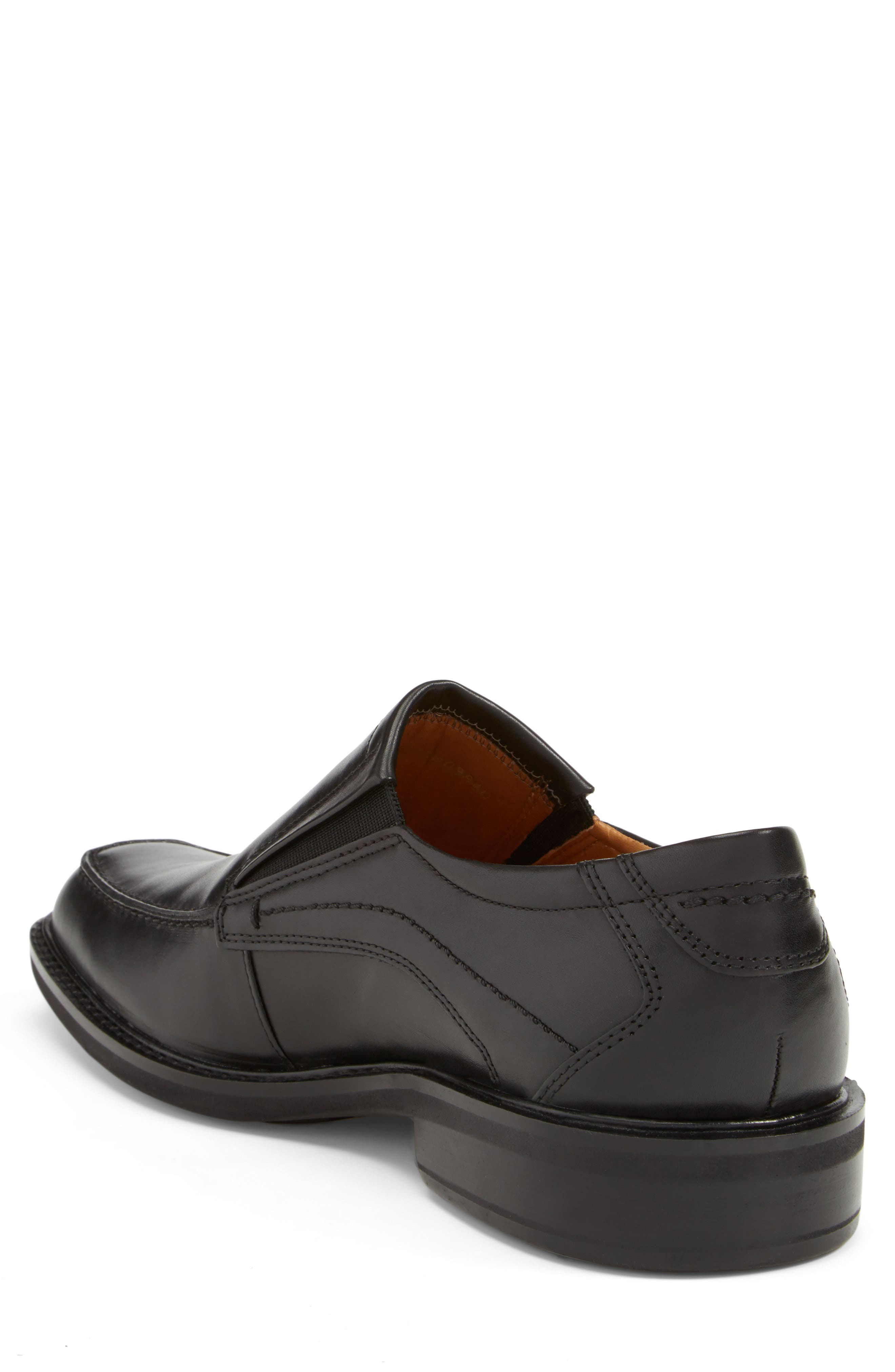 'Windsor' Slip-On,                             Alternate thumbnail 2, color,                             BLACK/BLACK LEATHER
