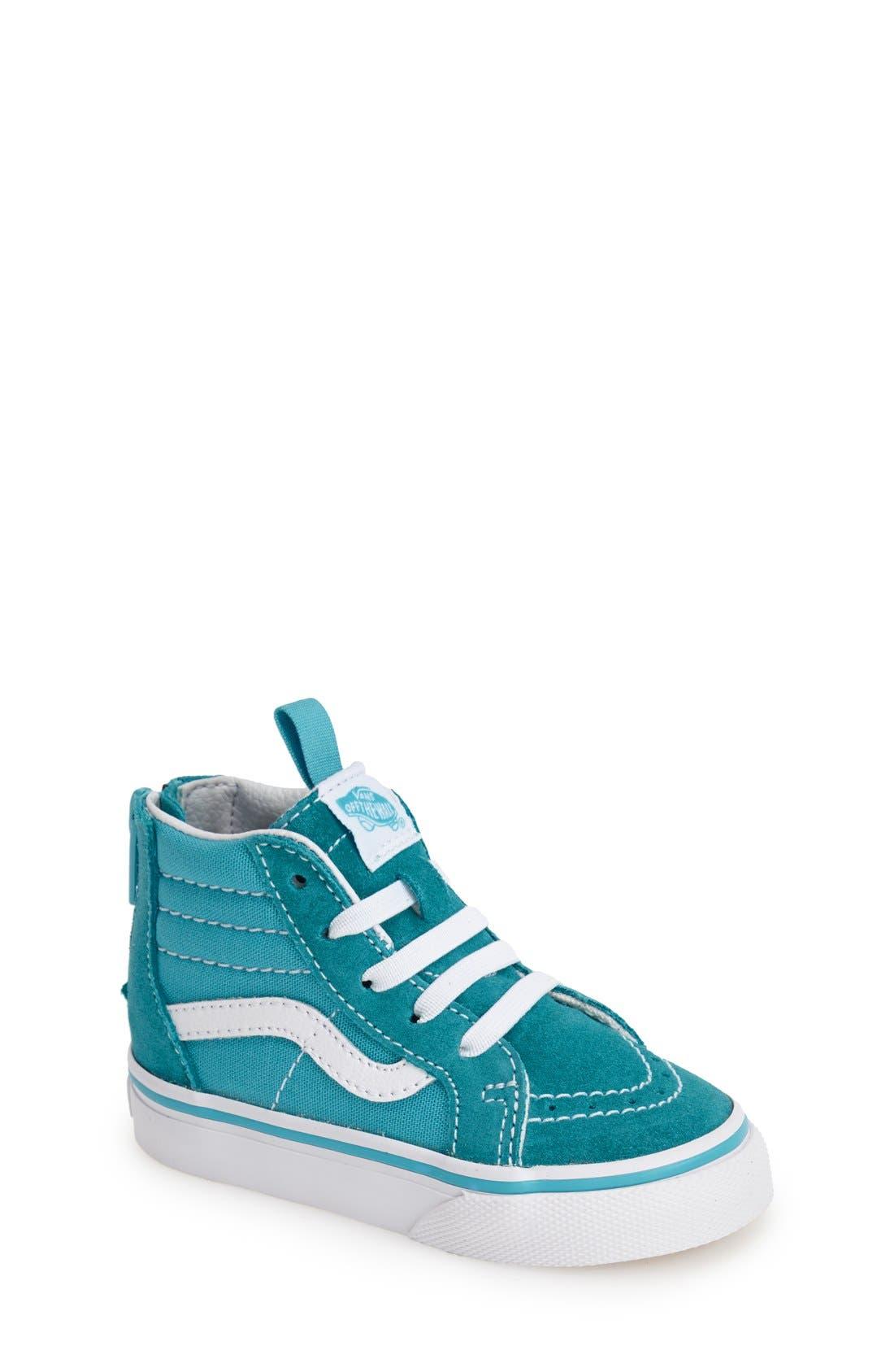 'Sk8-Hi' Zip Sneaker,                             Main thumbnail 4, color,