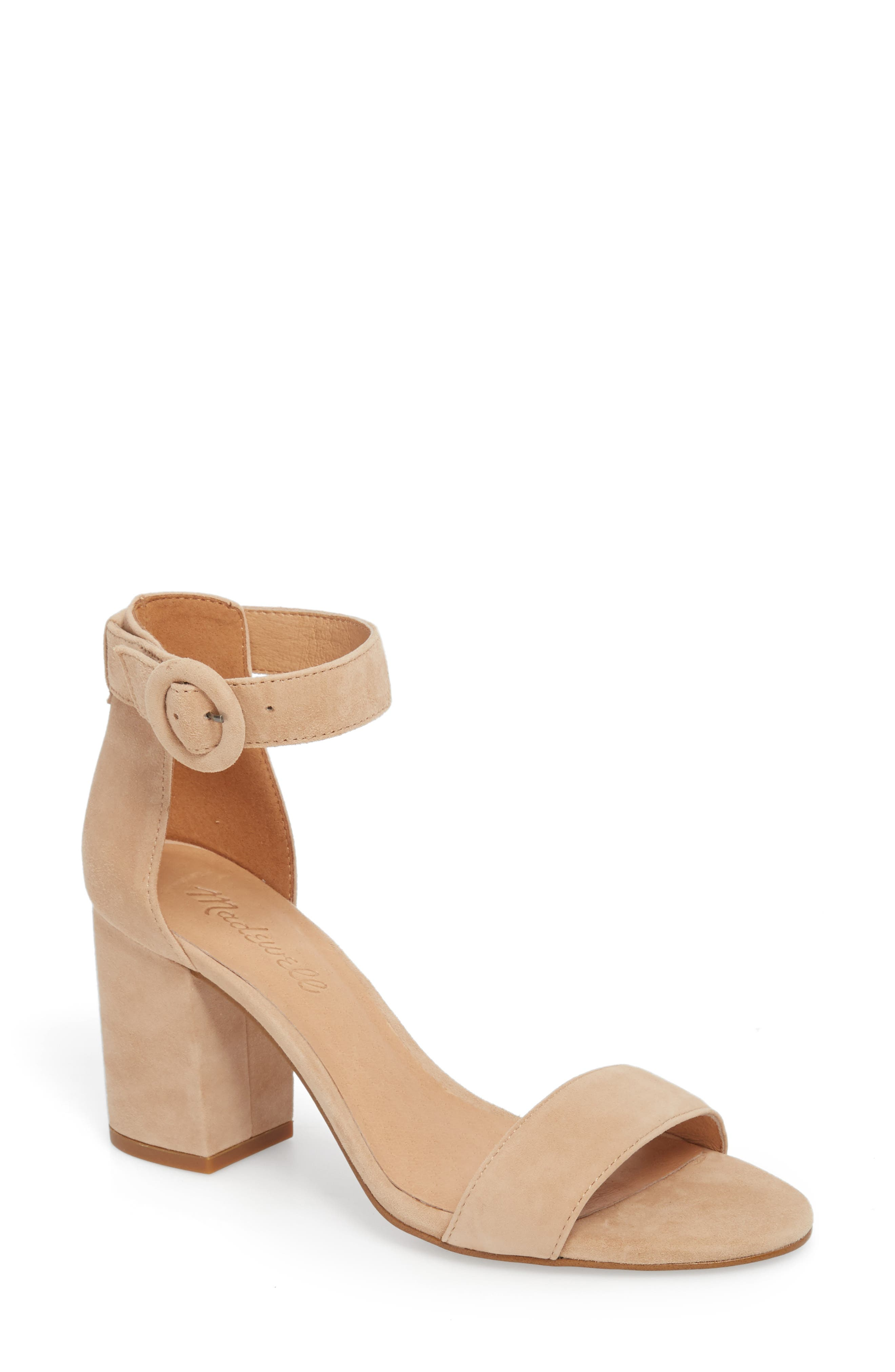 The Regina Ankle Strap Sandal,                         Main,                         color, SAND DUNE SUEDE