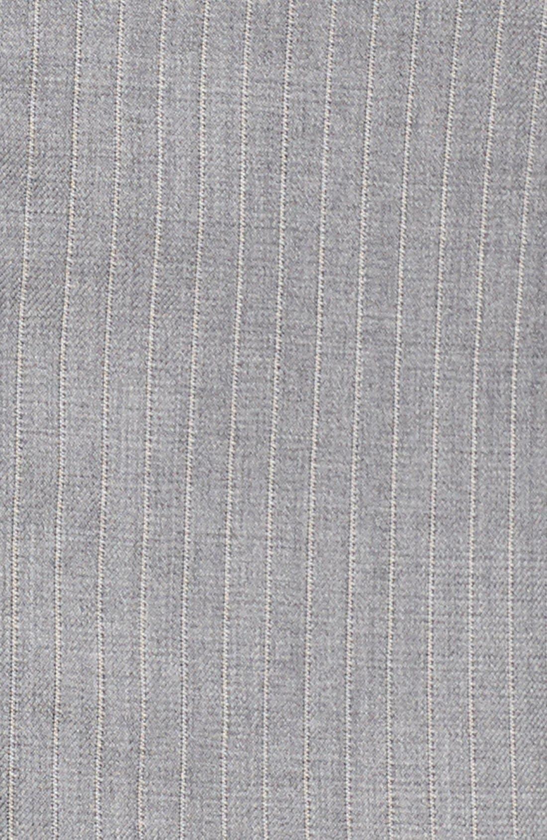 'Jelenna' Pinstripe One-Button Suit Jacket,                             Alternate thumbnail 4, color,                             060