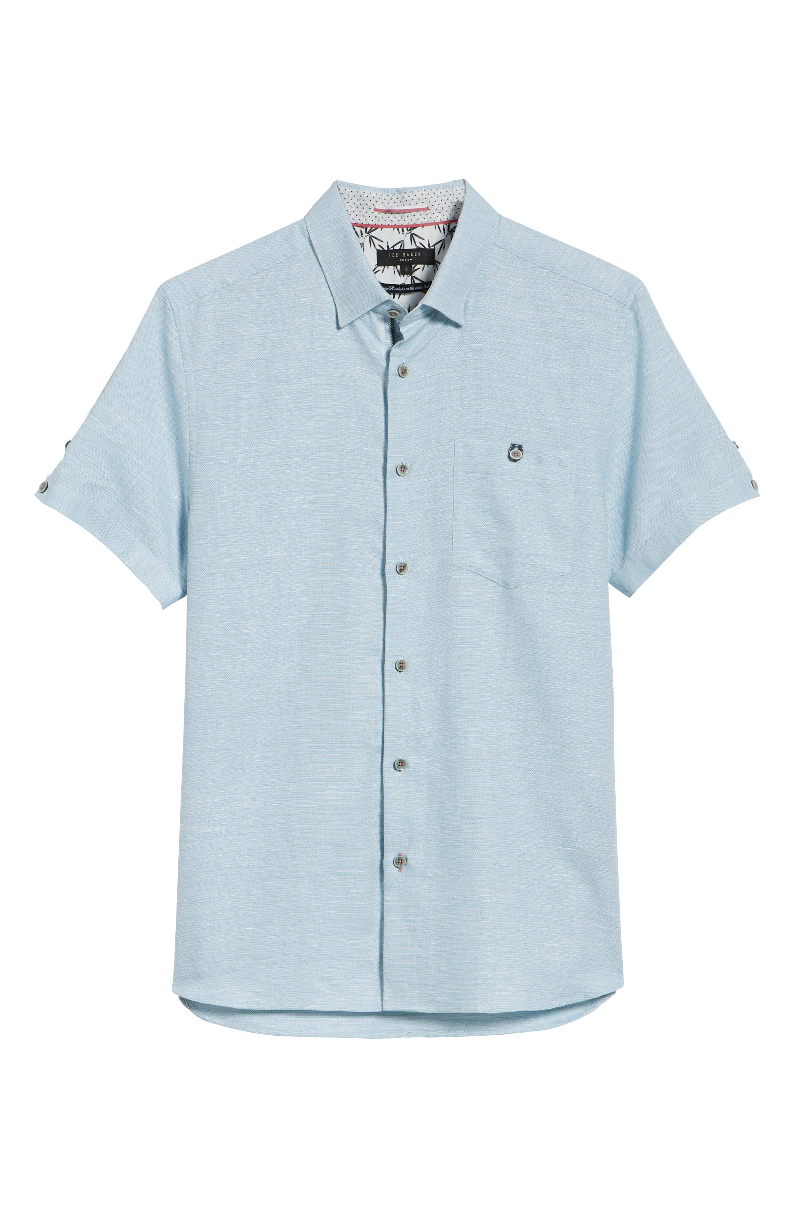 Slim Fit Sport Shirt,                             Alternate thumbnail 28, color,