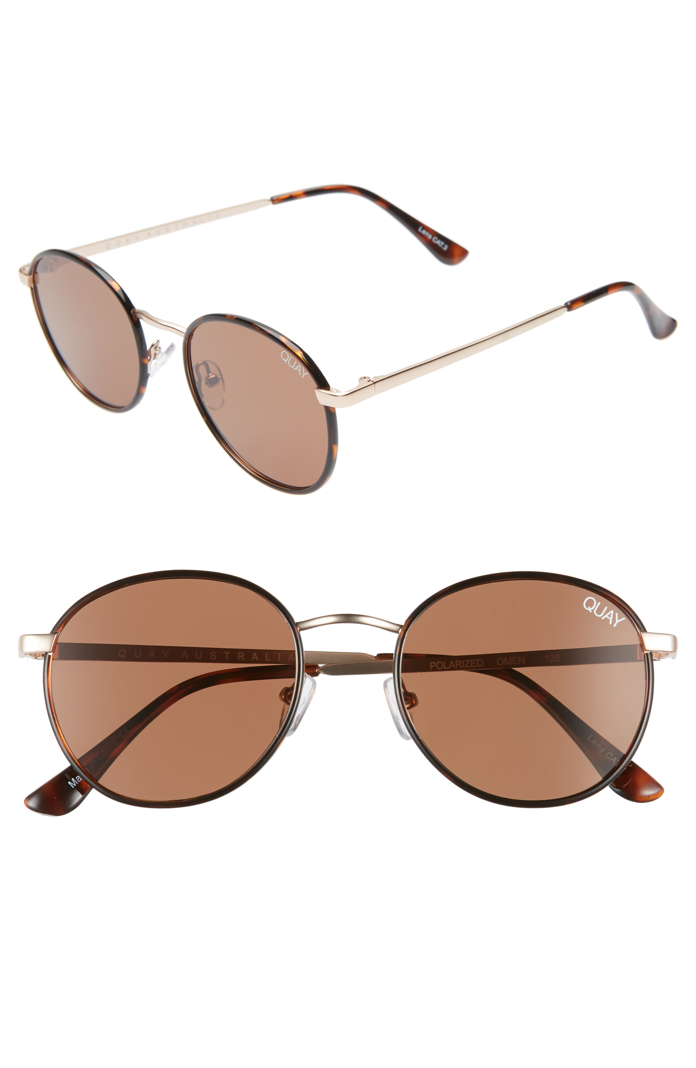 Quay Australia Omen 4m Sunglasses - Tortoise/ Brown