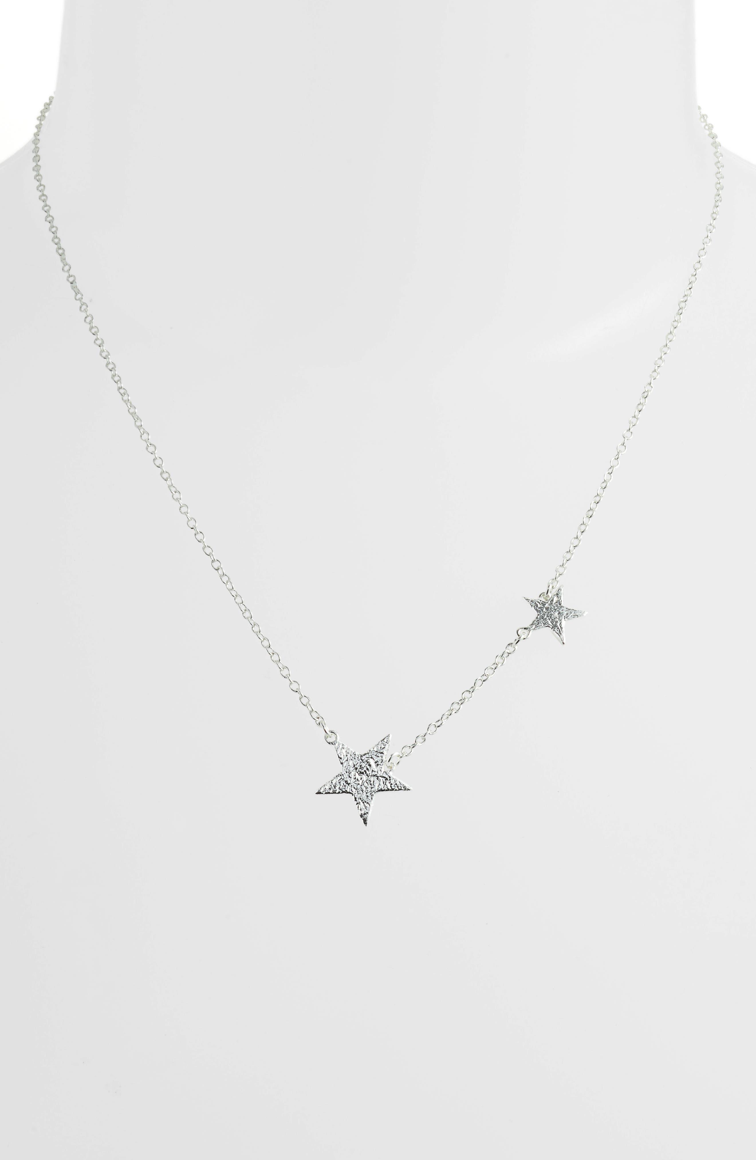 Star Pendant Necklace,                             Alternate thumbnail 2, color,                             SILVER