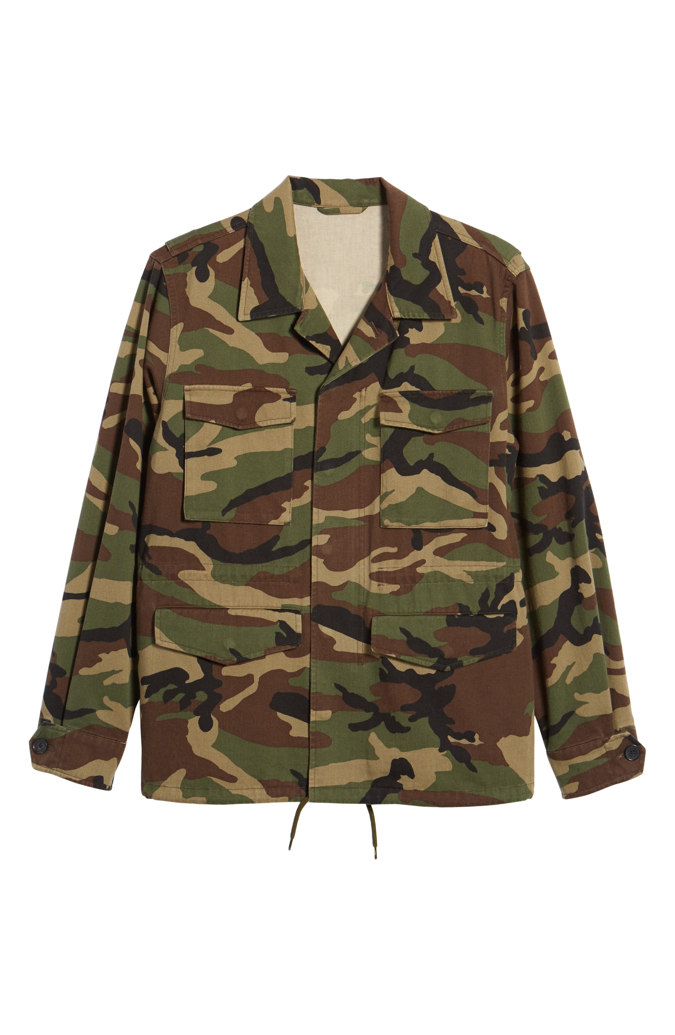 Slim Fit Camo Jacket,                             Alternate thumbnail 5, color,                             300