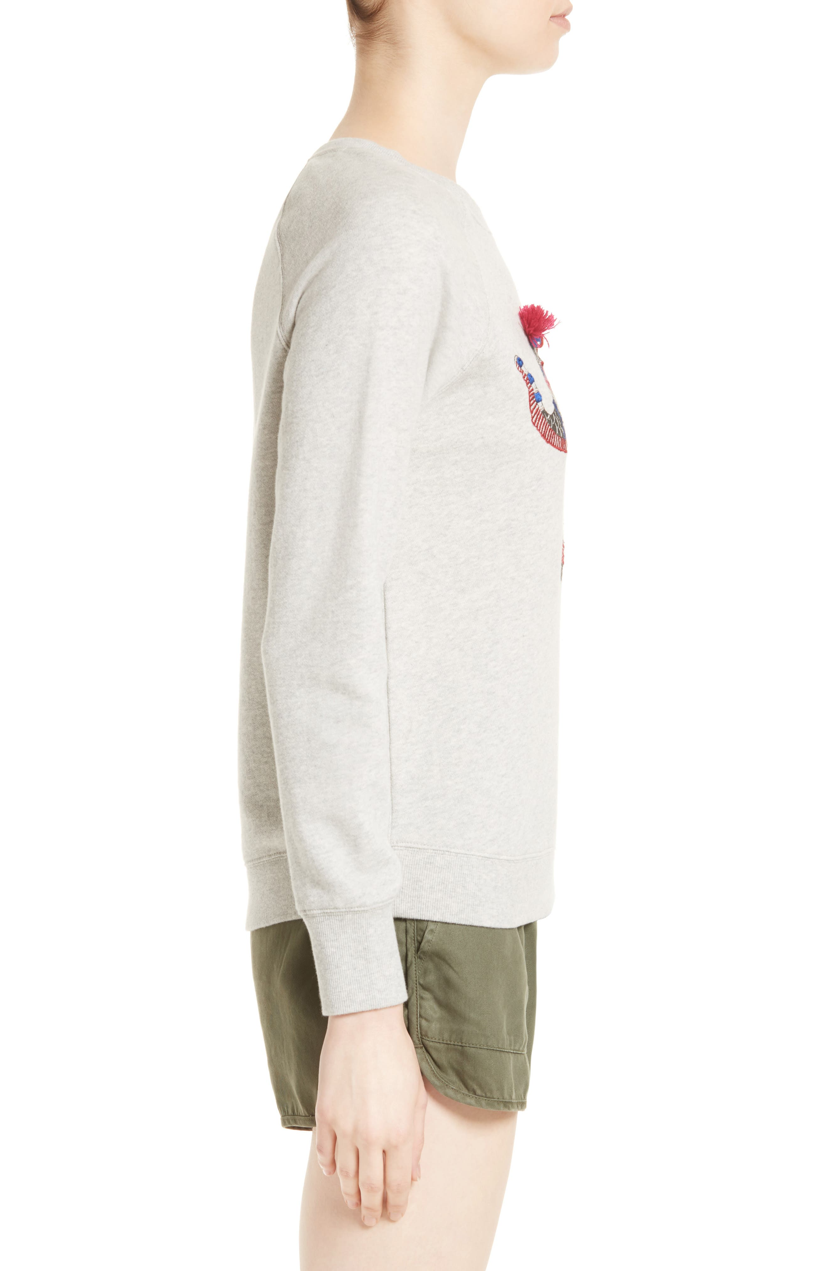 SOFT JOIE,                             Annora Embroidered Elephant Sweatshirt,                             Alternate thumbnail 3, color,                             099