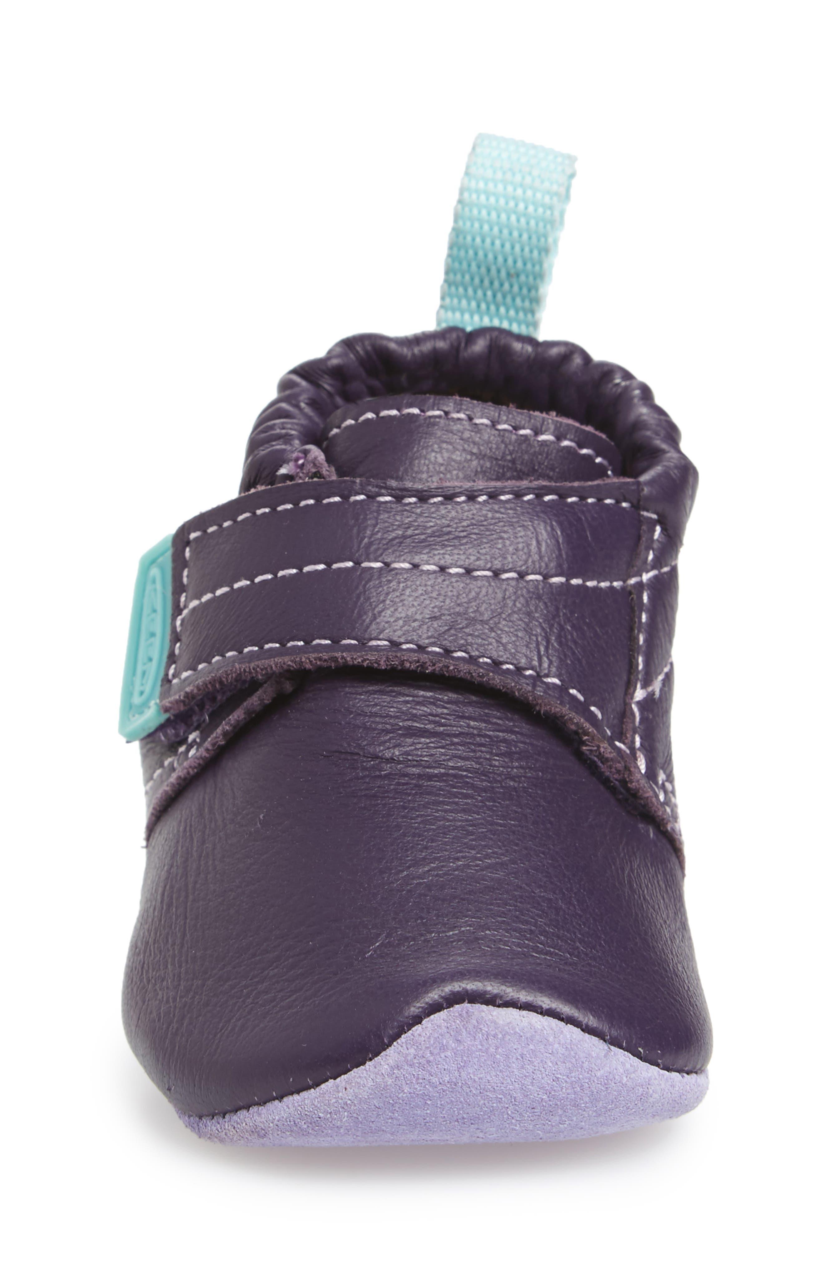Leo Crib Shoe,                             Alternate thumbnail 4, color,                             PURPLE / SWEET LAVENDER