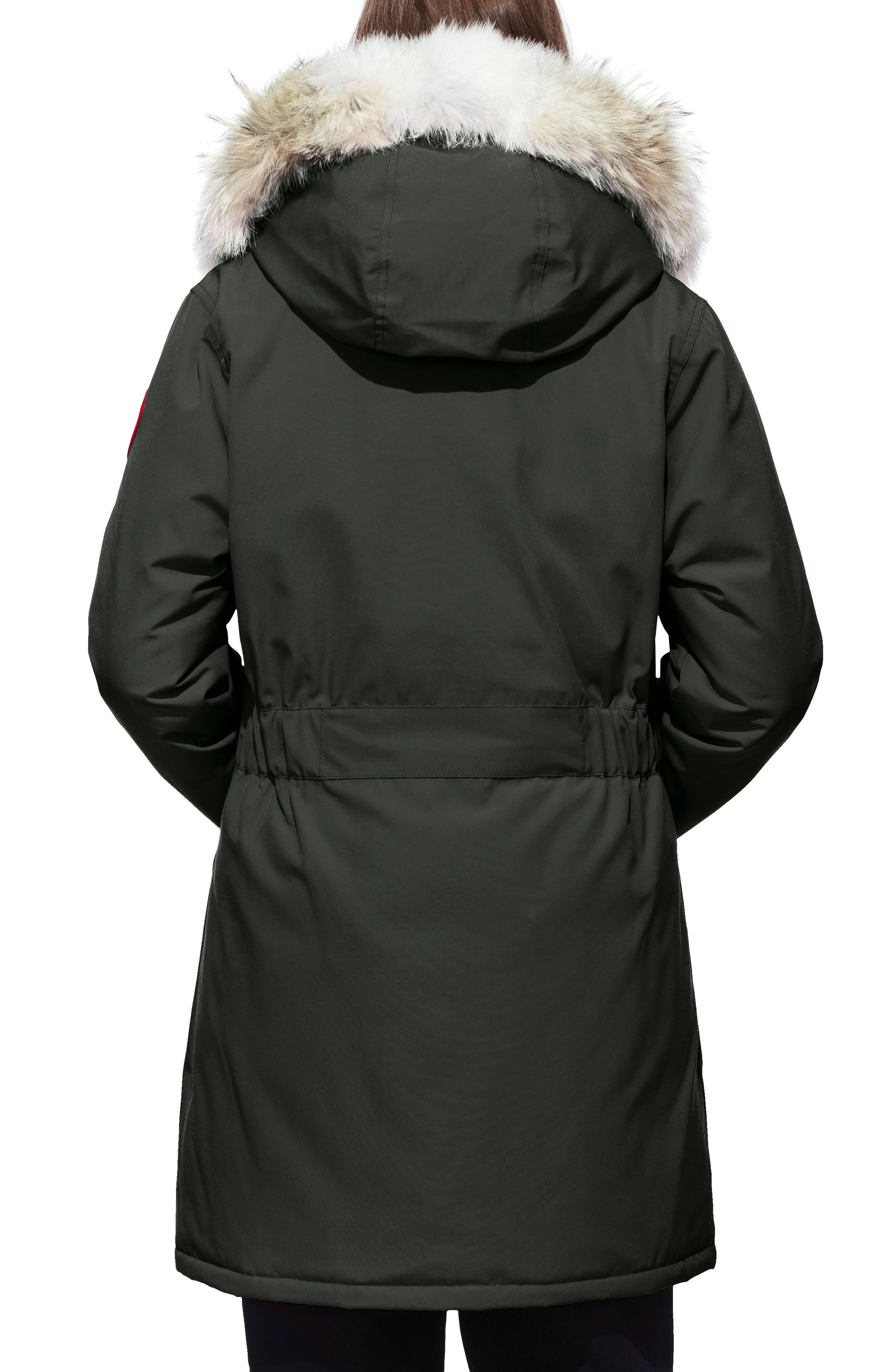 Trillium Fusion Fit Hooded Parka with Genuine Coyote Fur Trim,                             Alternate thumbnail 2, color,                             VOLCANO