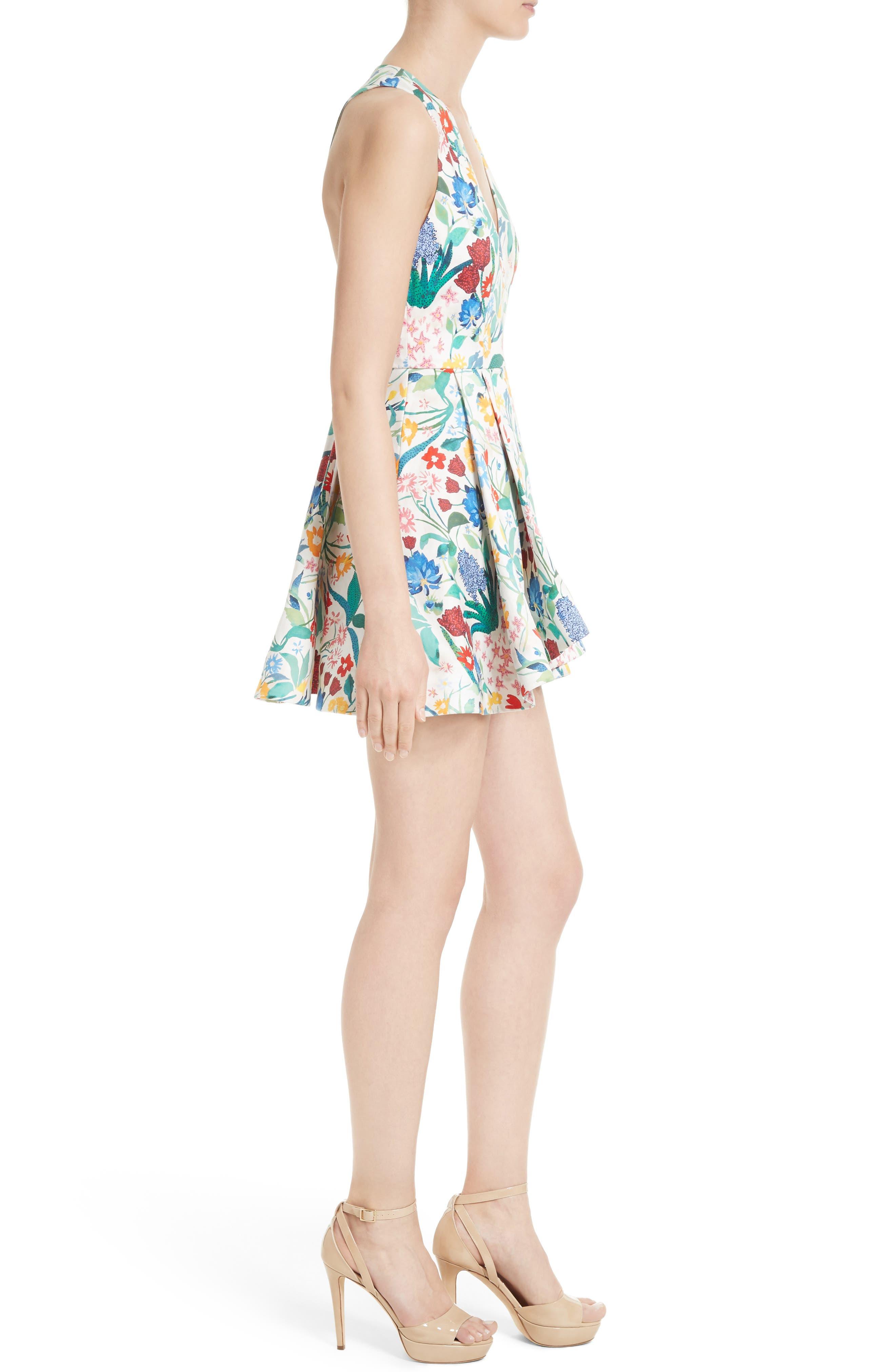 Tanner Floral Asymmetrical Dress,                             Main thumbnail 1, color,                             900