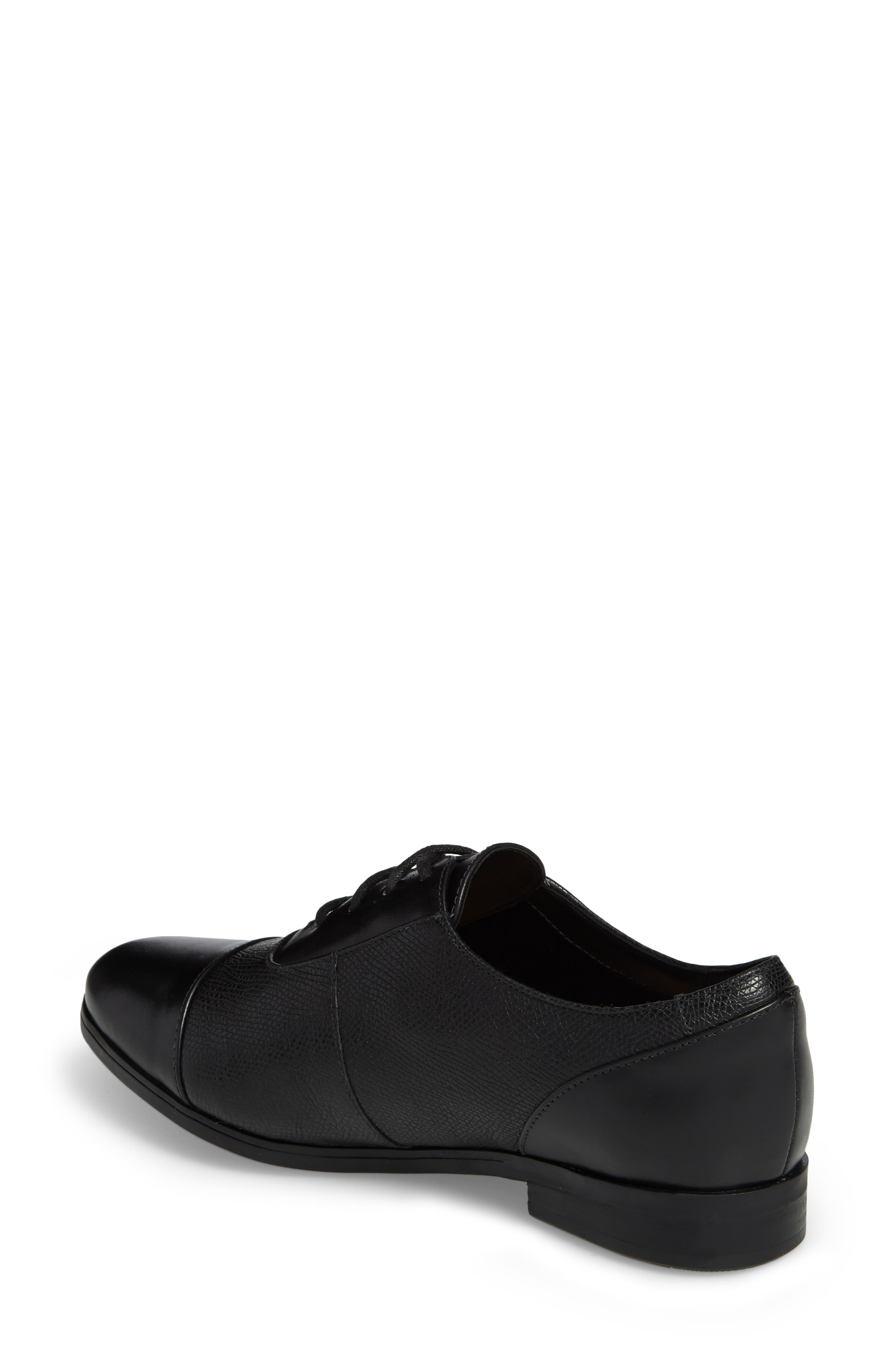 Tilmont Ivy Oxford,                             Alternate thumbnail 2, color,                             BLACK LEATHER