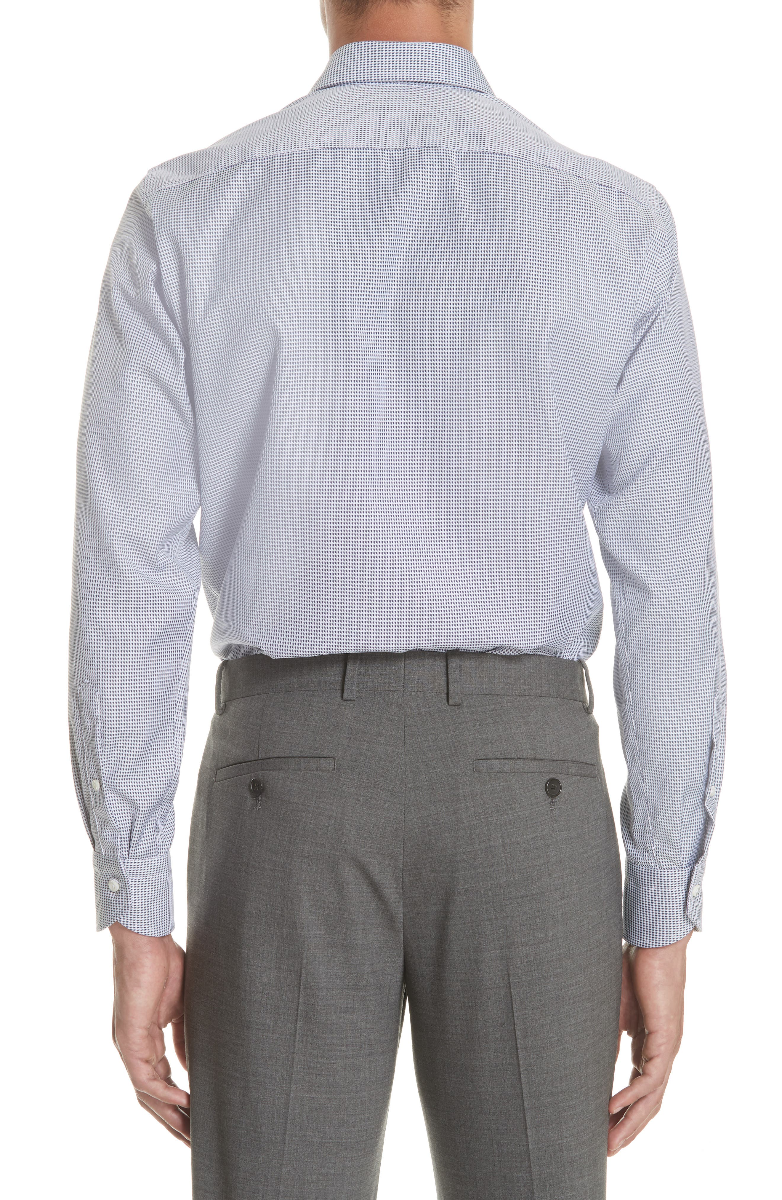 Regular Fit Print Dress Shirt,                             Alternate thumbnail 3, color,                             401