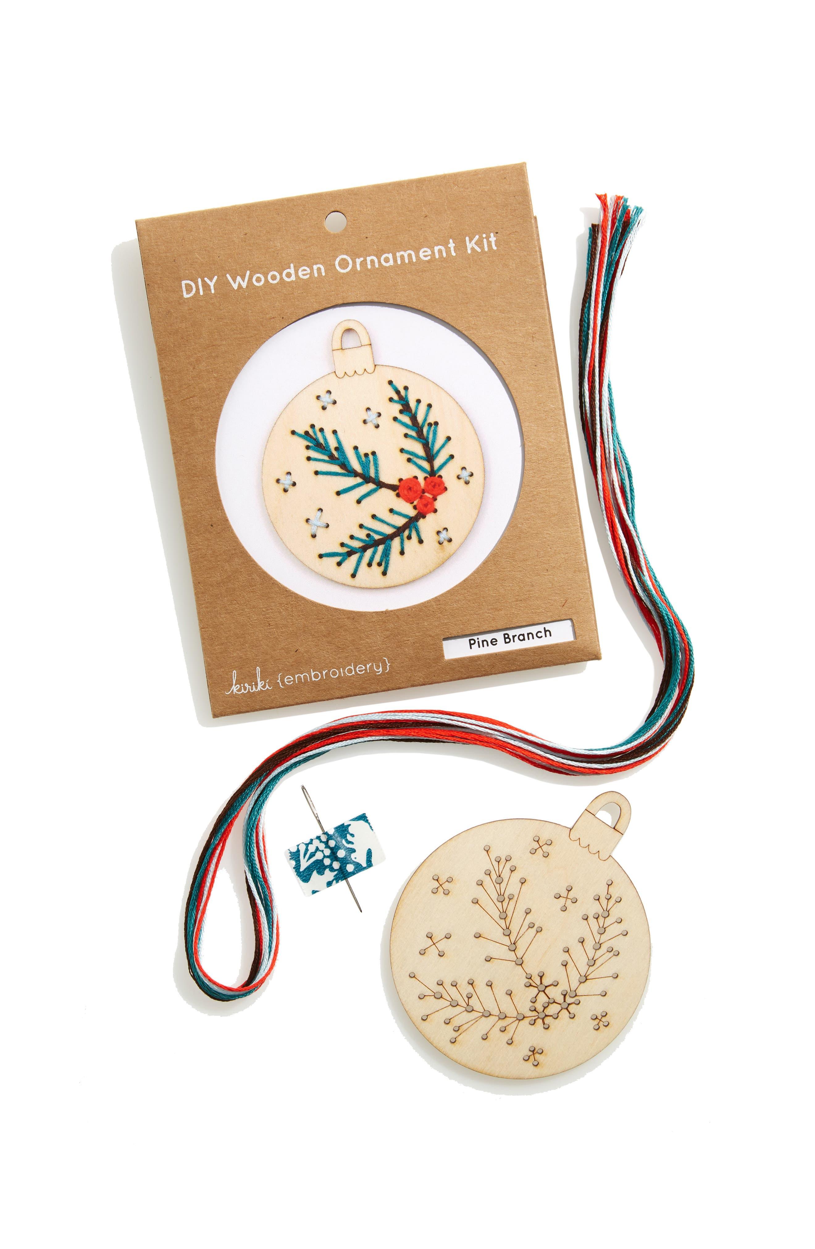 Kiriki Pine Branch Wooden Ornament Kit