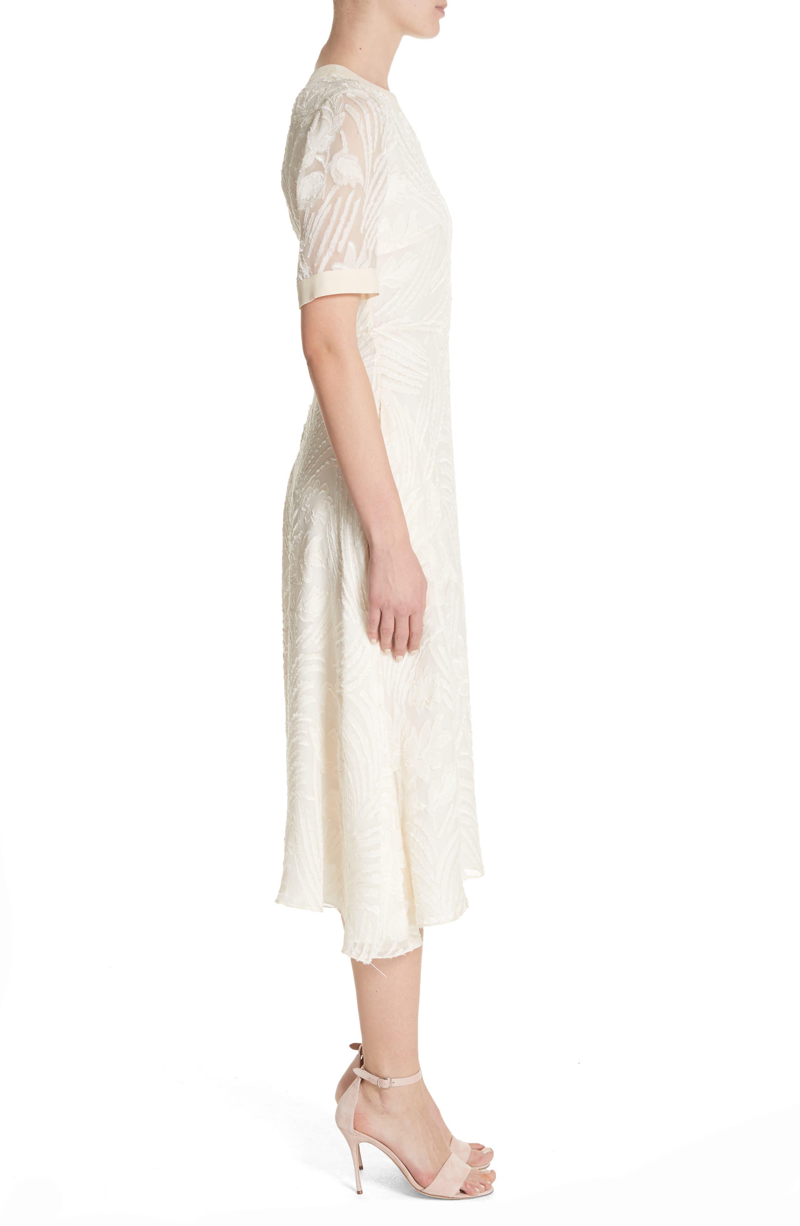 Fil Coupé A-Line Dress,                             Alternate thumbnail 3, color,                             906