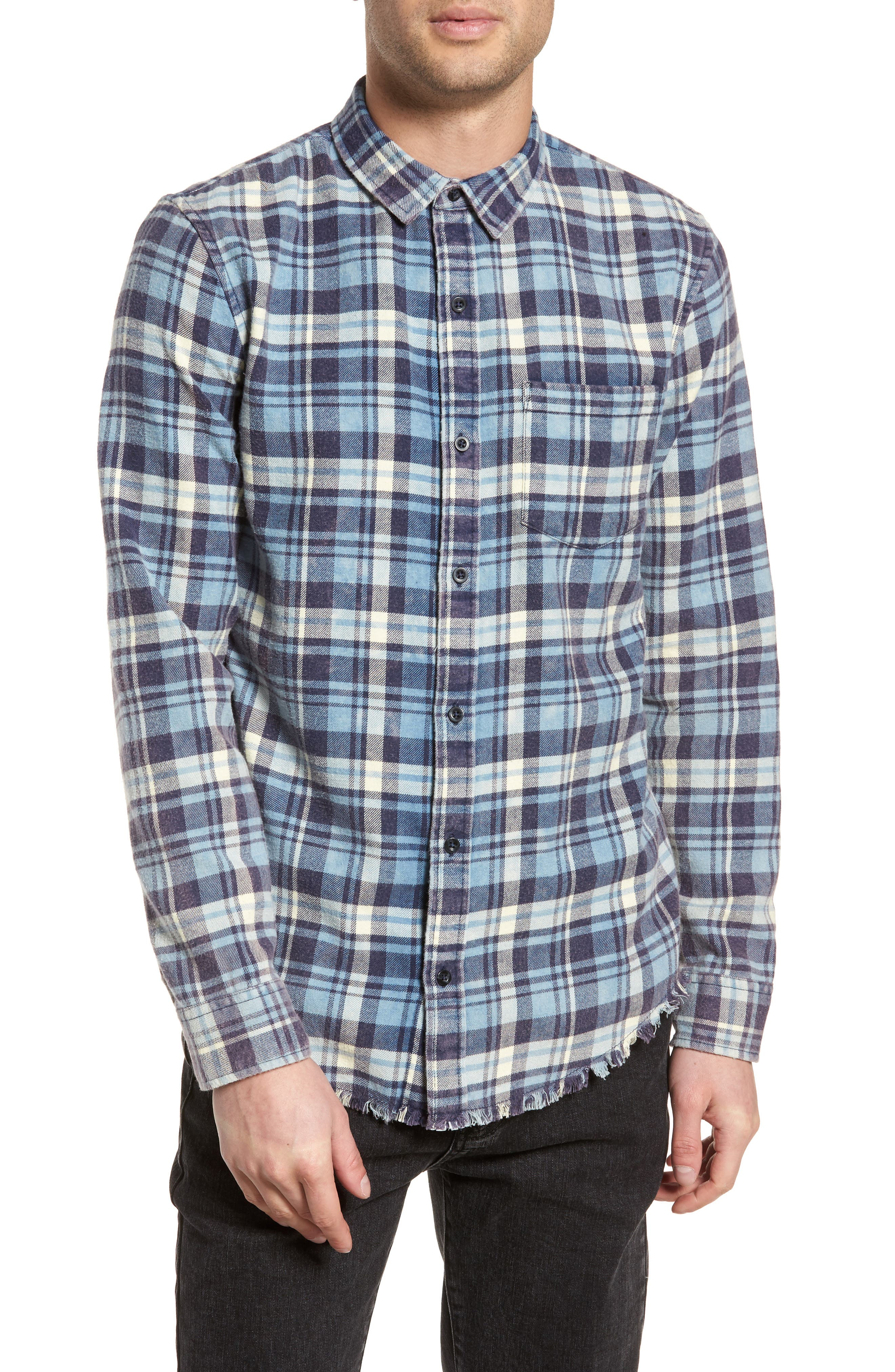 Plaid Flannel Shirt,                         Main,                         color, 420