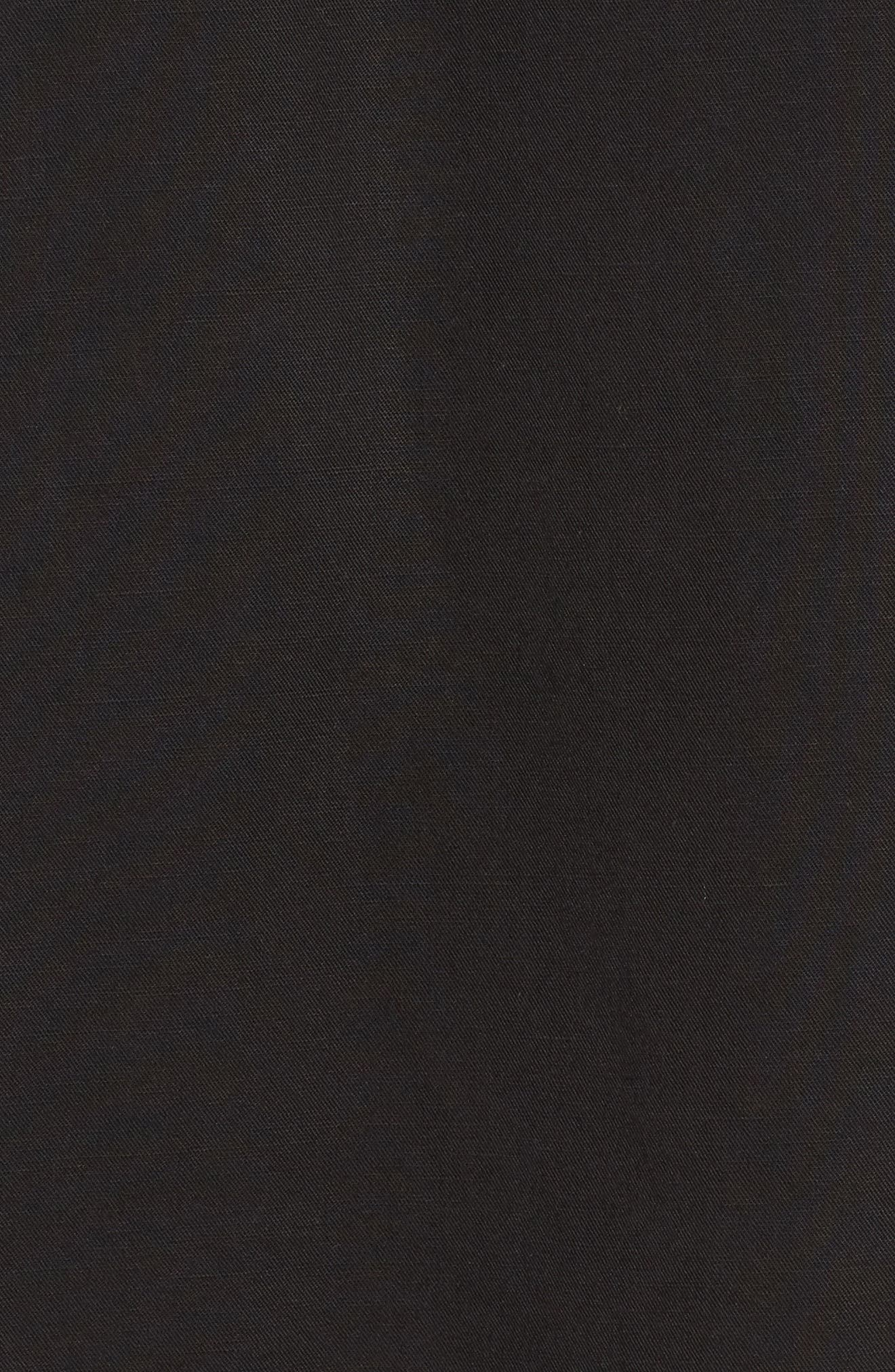 Tencel<sup>®</sup> Lyocell & Linen Midi Skirt,                             Alternate thumbnail 5, color,                             001