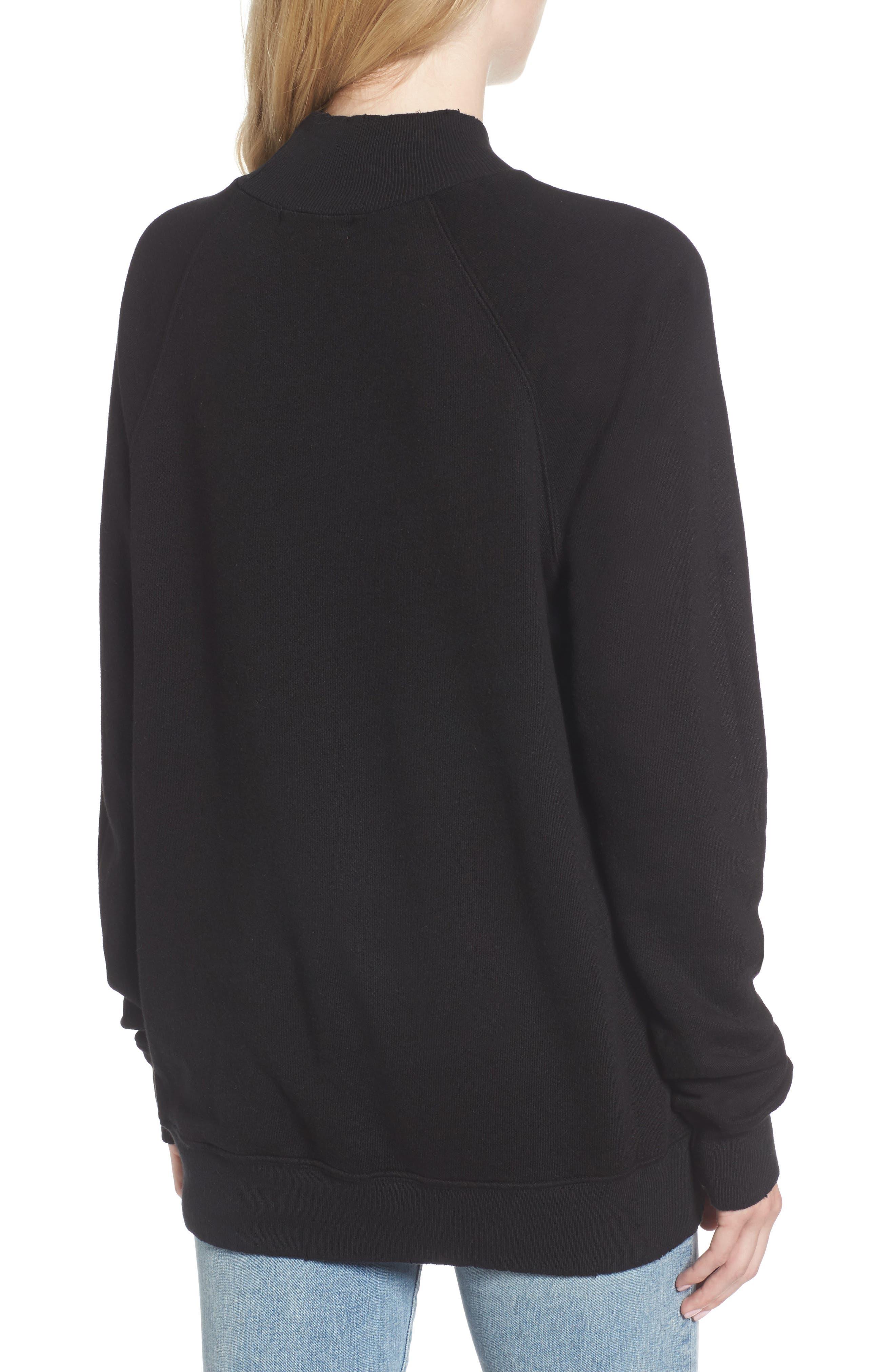 Zuma Mock Neck Sweatshirt,                             Alternate thumbnail 2, color,                             001