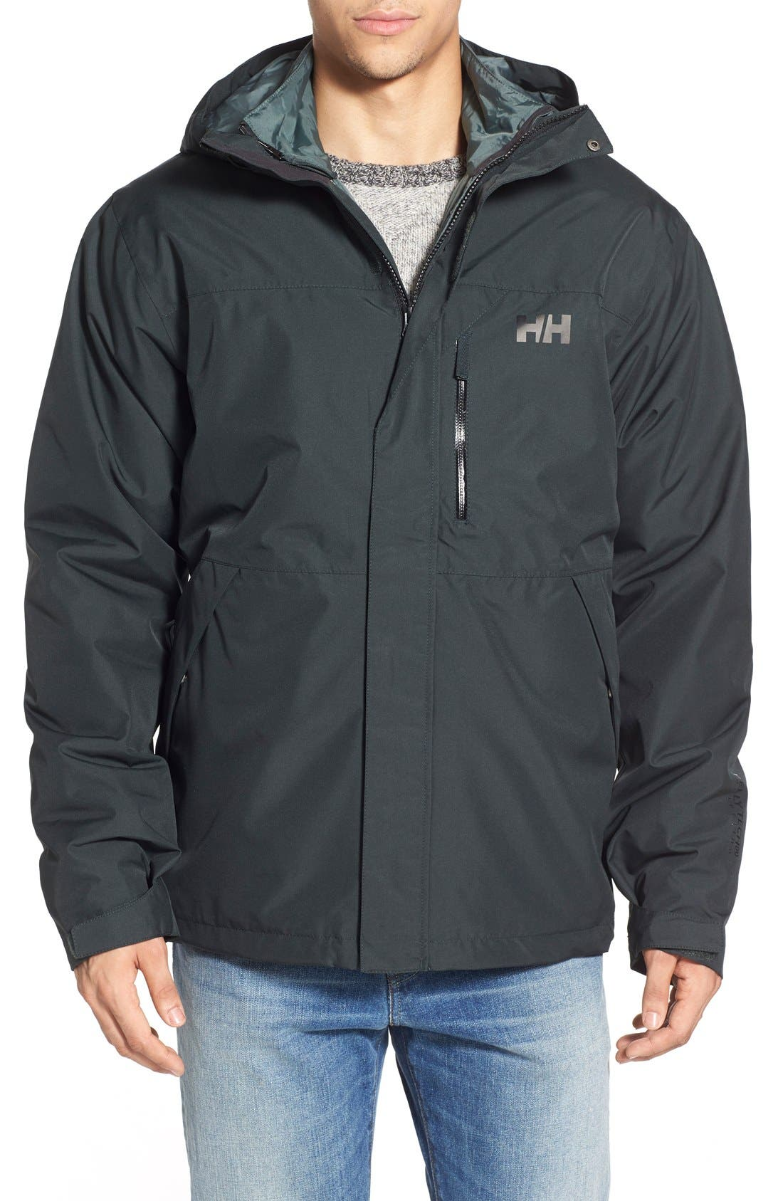 Squamish 3-in-1 Water Repellent Hooded Jacket,                             Main thumbnail 4, color,