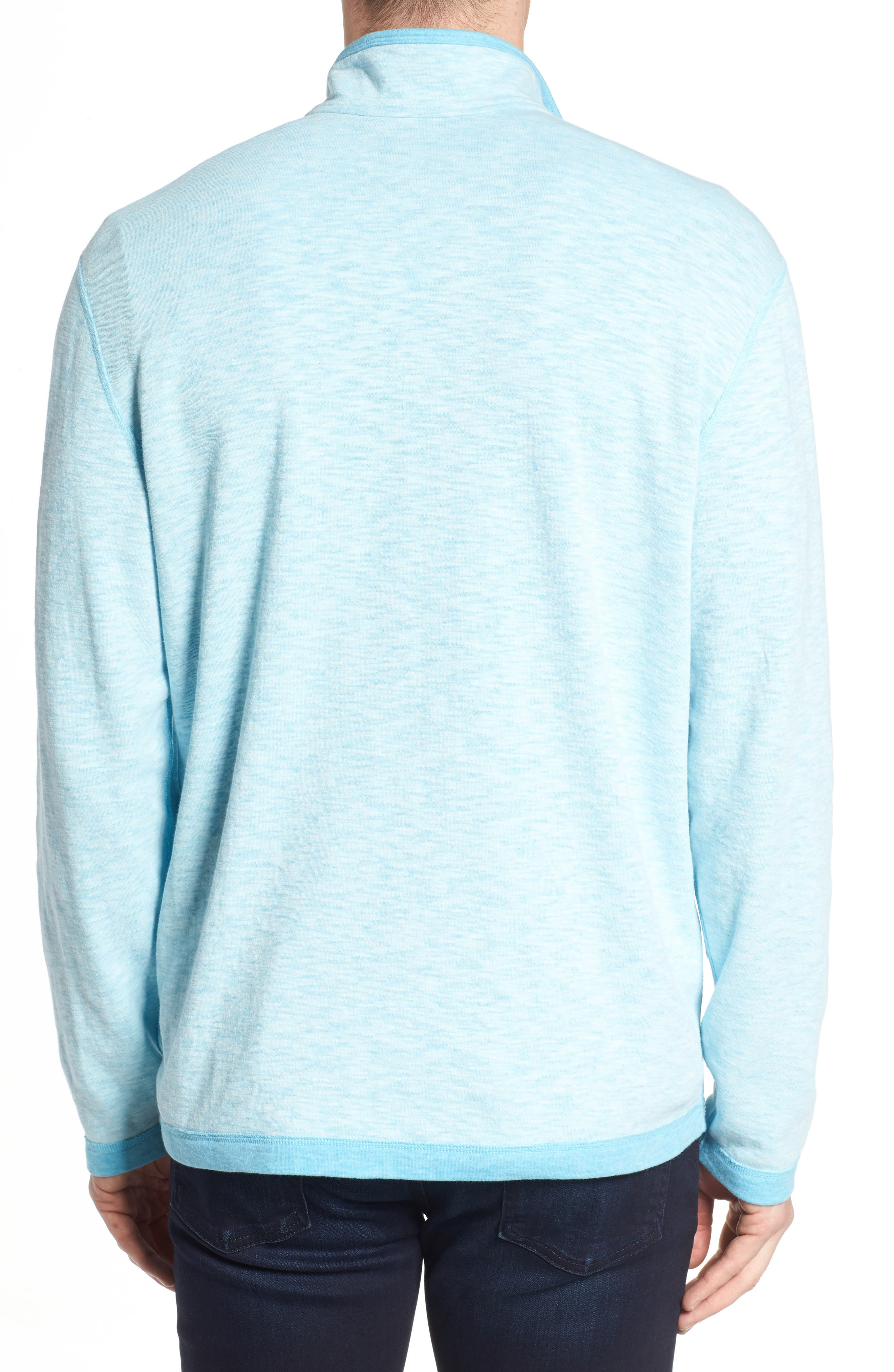 Sea Glass Reversible Quarter Zip Pullover,                             Alternate thumbnail 21, color,