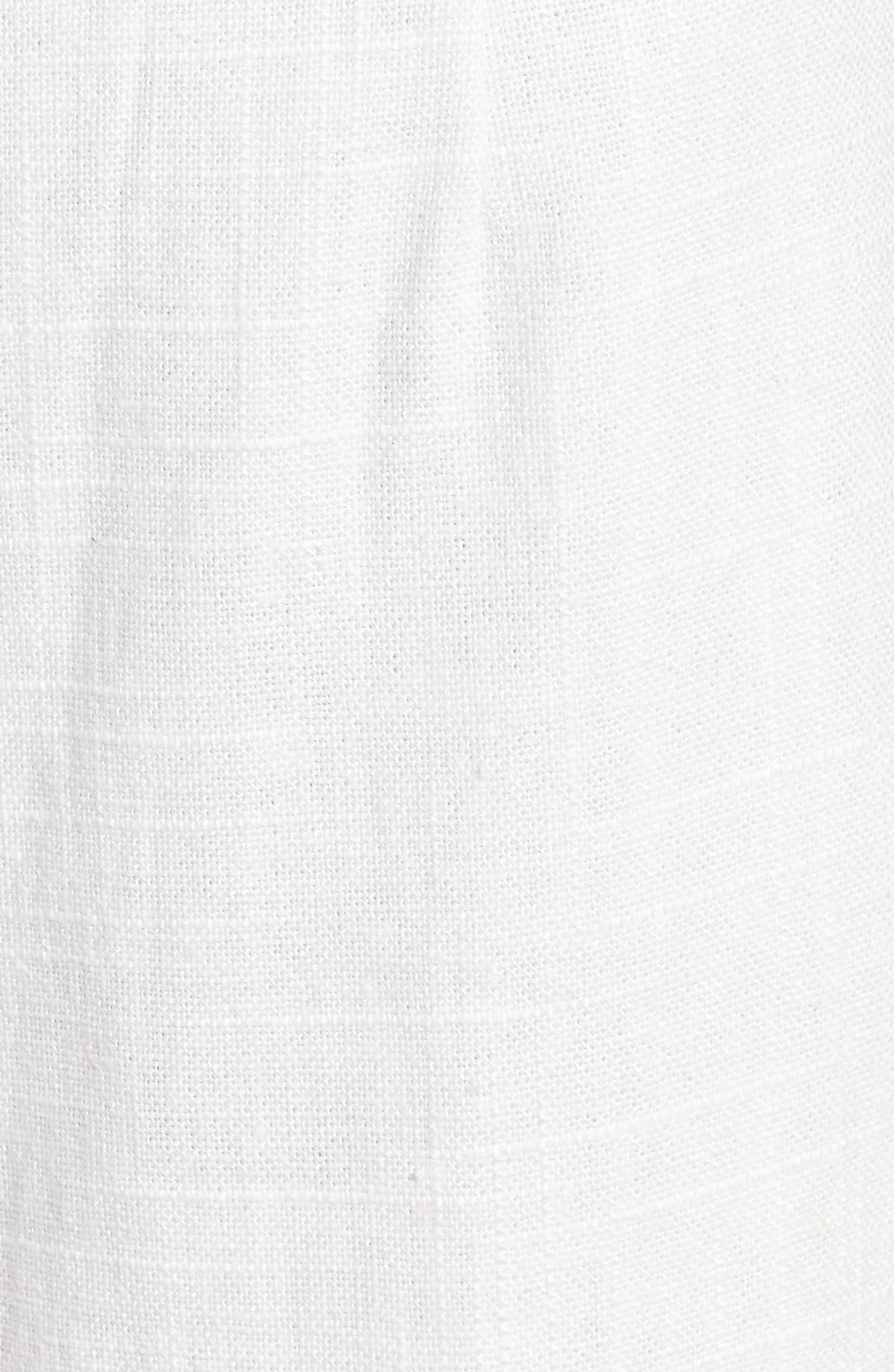 Linen High Waist Crop Pants,                             Alternate thumbnail 6, color,