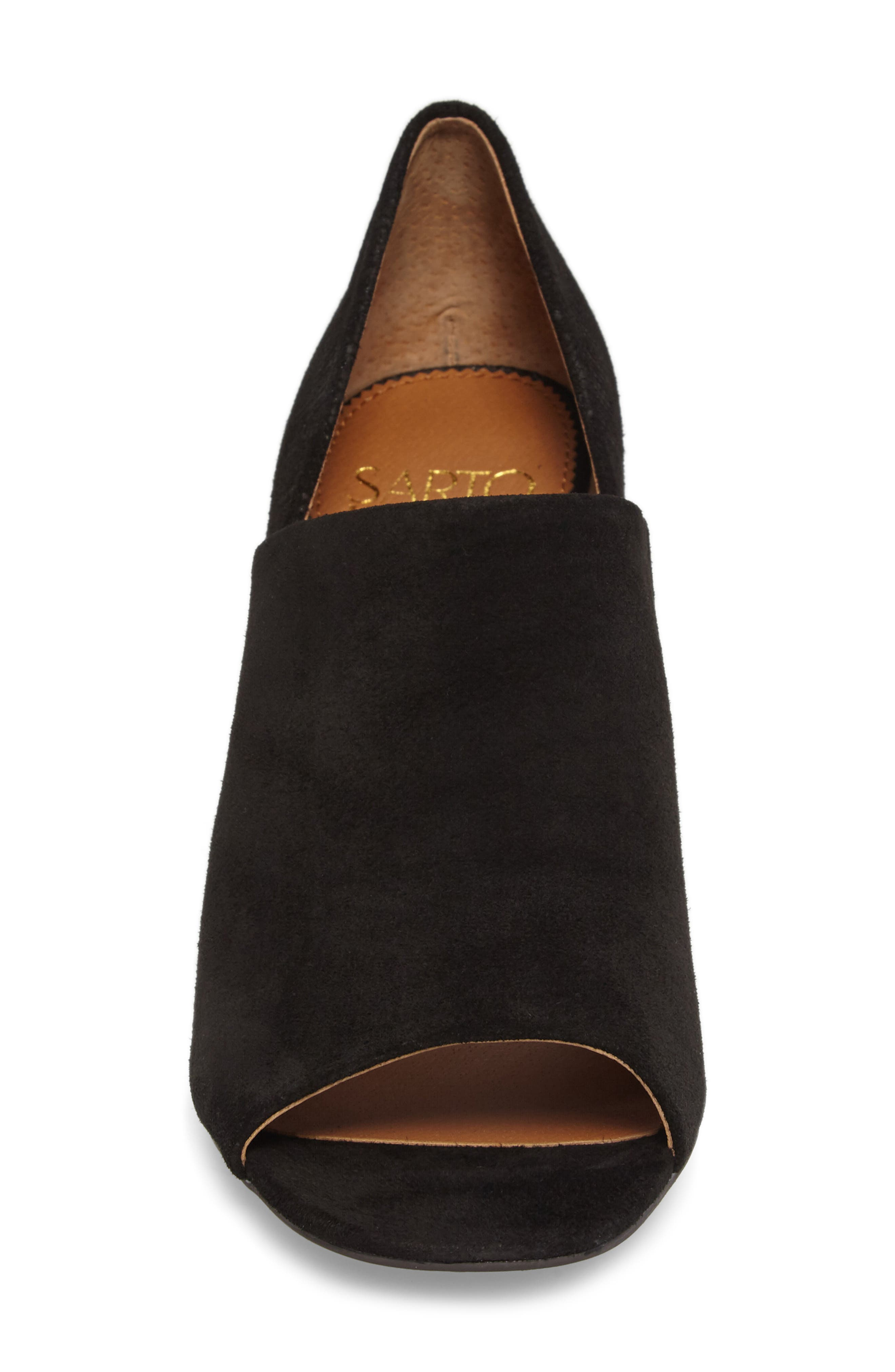 Ellison Block Heel Sandal,                             Alternate thumbnail 4, color,                             001