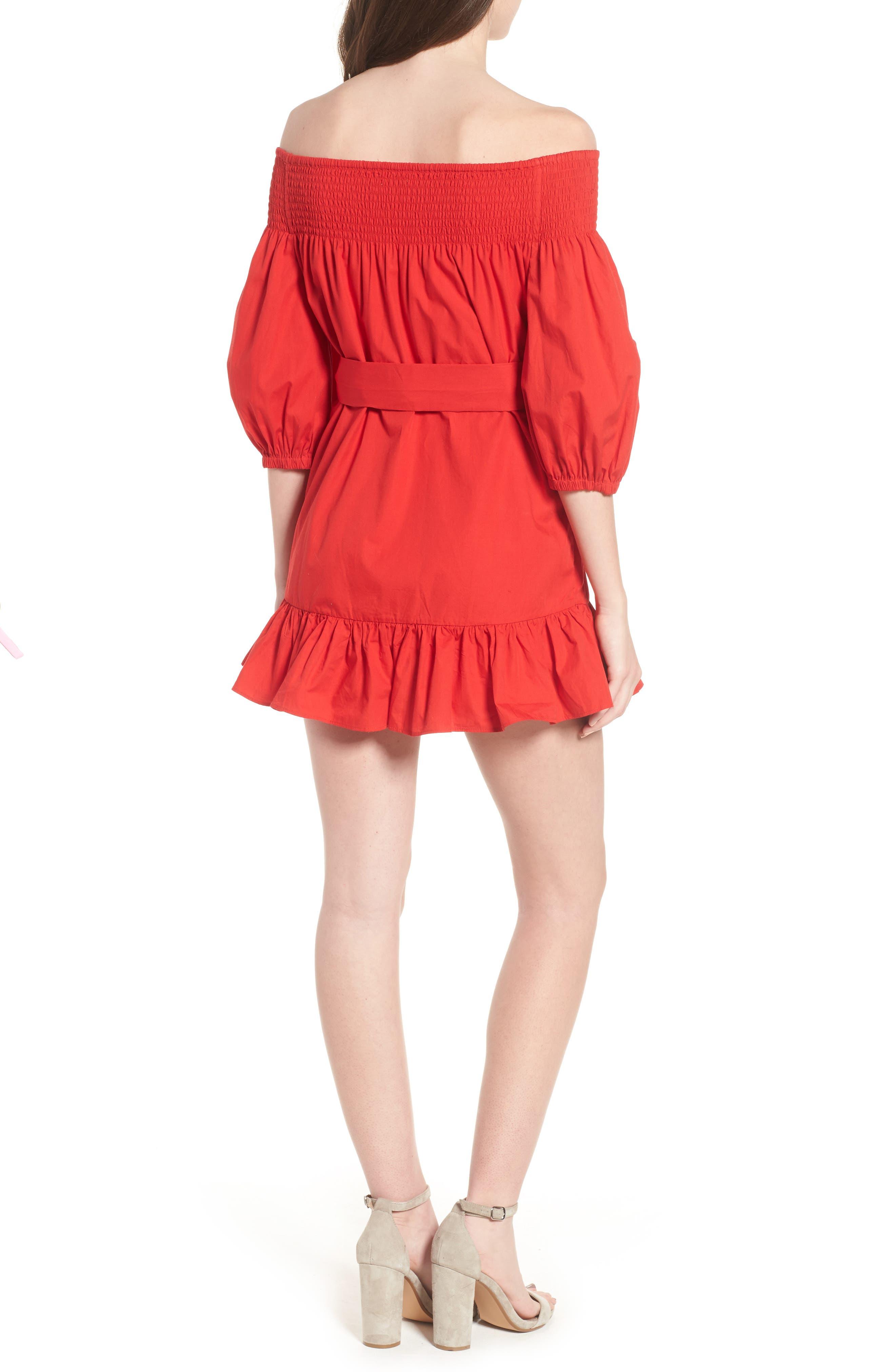 Maida Faux Wrap Ruffle Dress,                             Alternate thumbnail 2, color,                             601