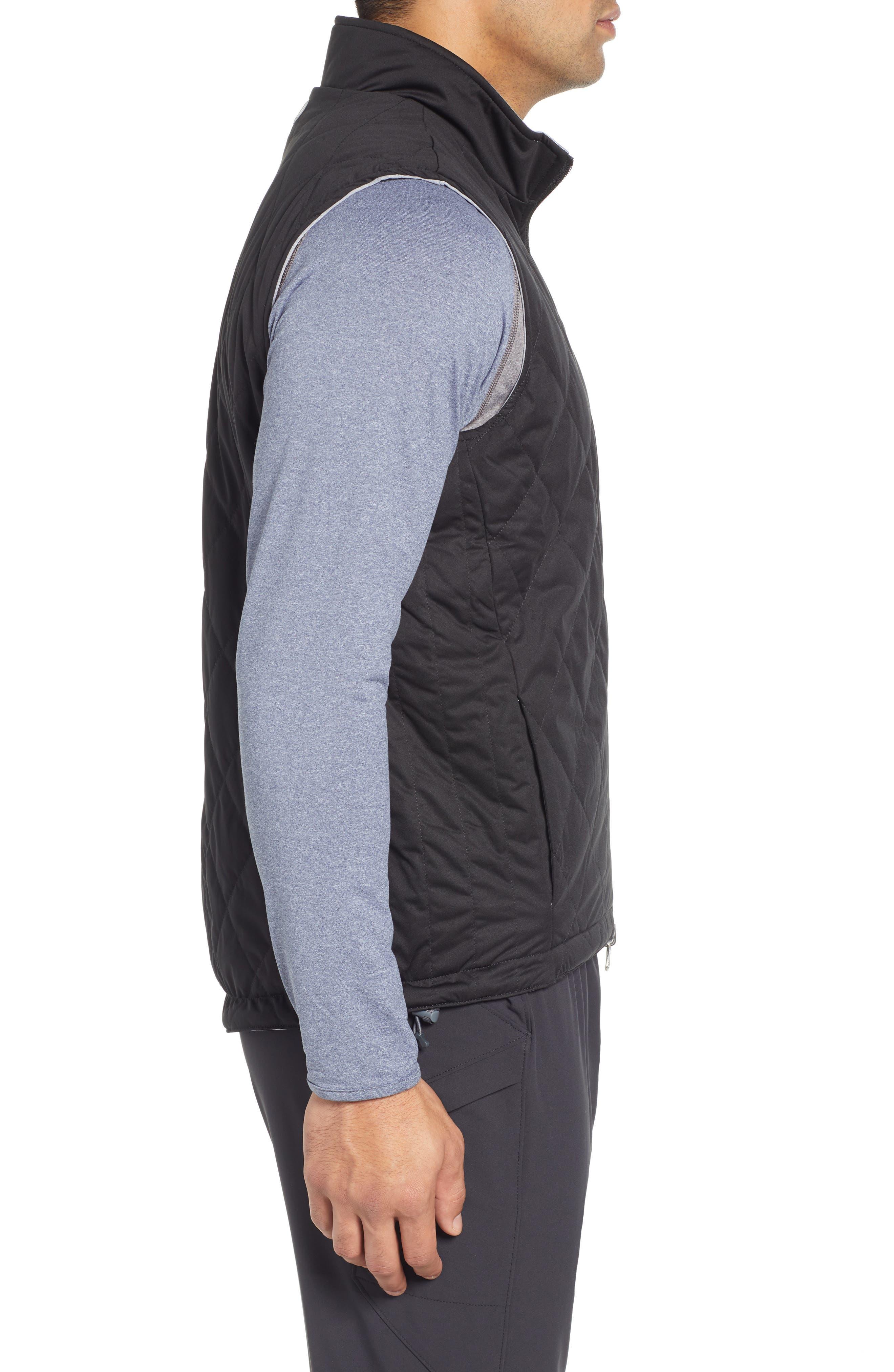 Deuce Regular Fit Reversible Quilted Vest,                             Alternate thumbnail 4, color,                             001