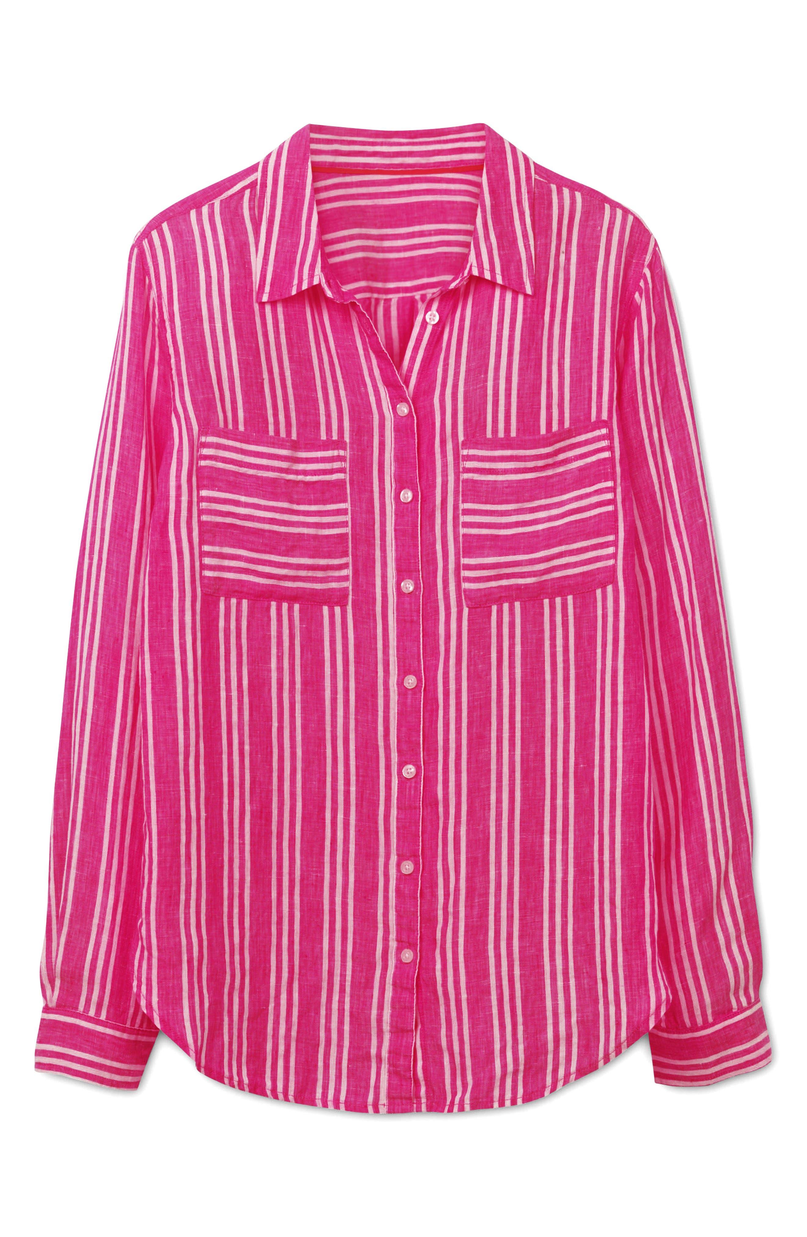 Linen Shirt,                             Alternate thumbnail 7, color,