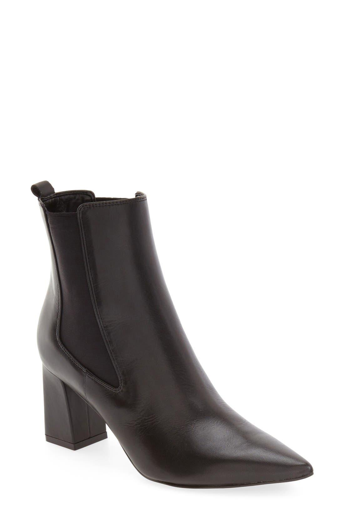 MARC FISHER LTD 'Zanna' Chelsea Boot, Main, color, 001