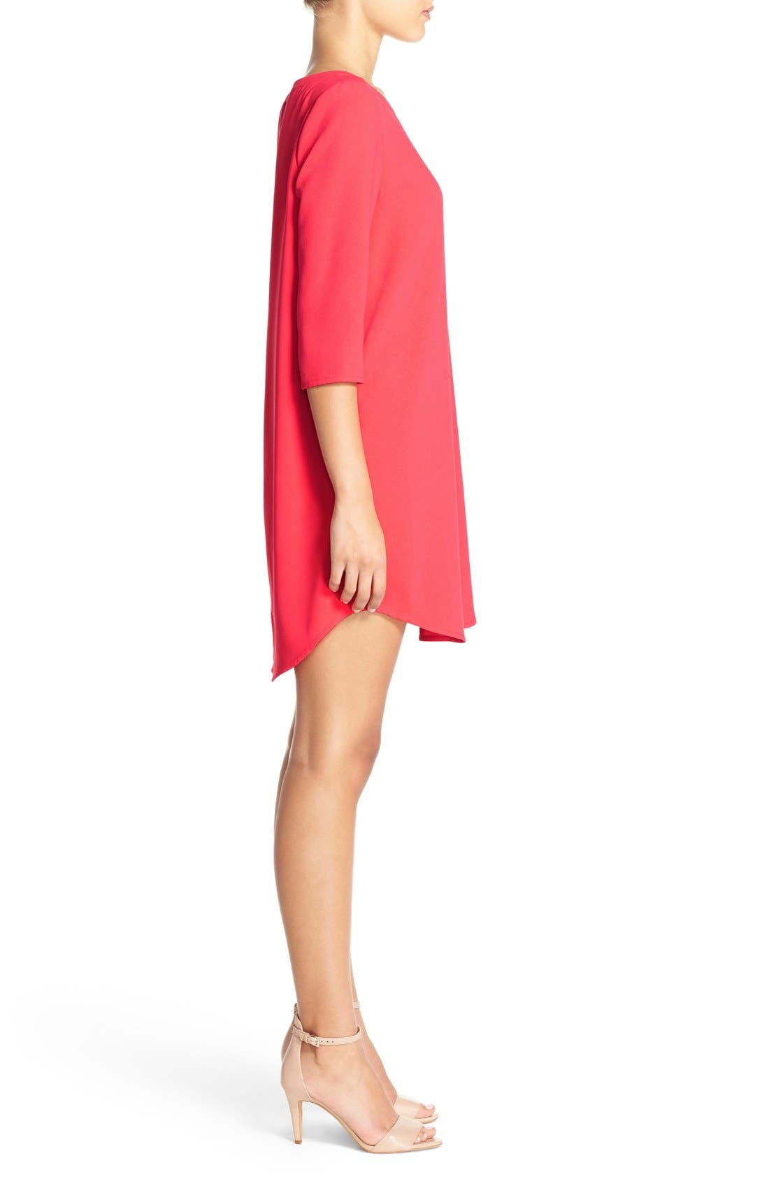 'Jazlyn' Crepe Shift Dress,                             Alternate thumbnail 36, color,