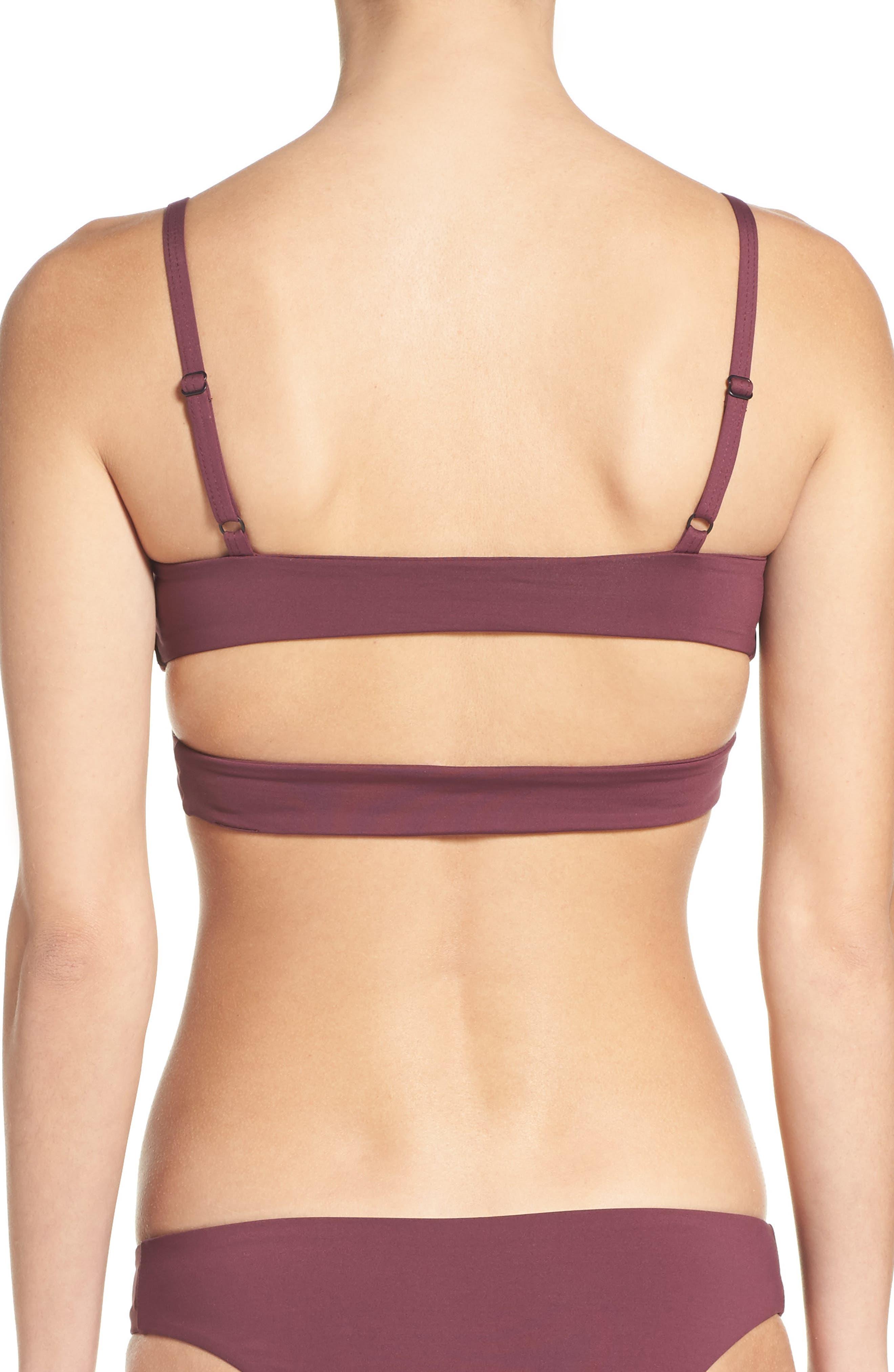 'Jessi' Cutout Triangle Bikini Top,                             Alternate thumbnail 18, color,