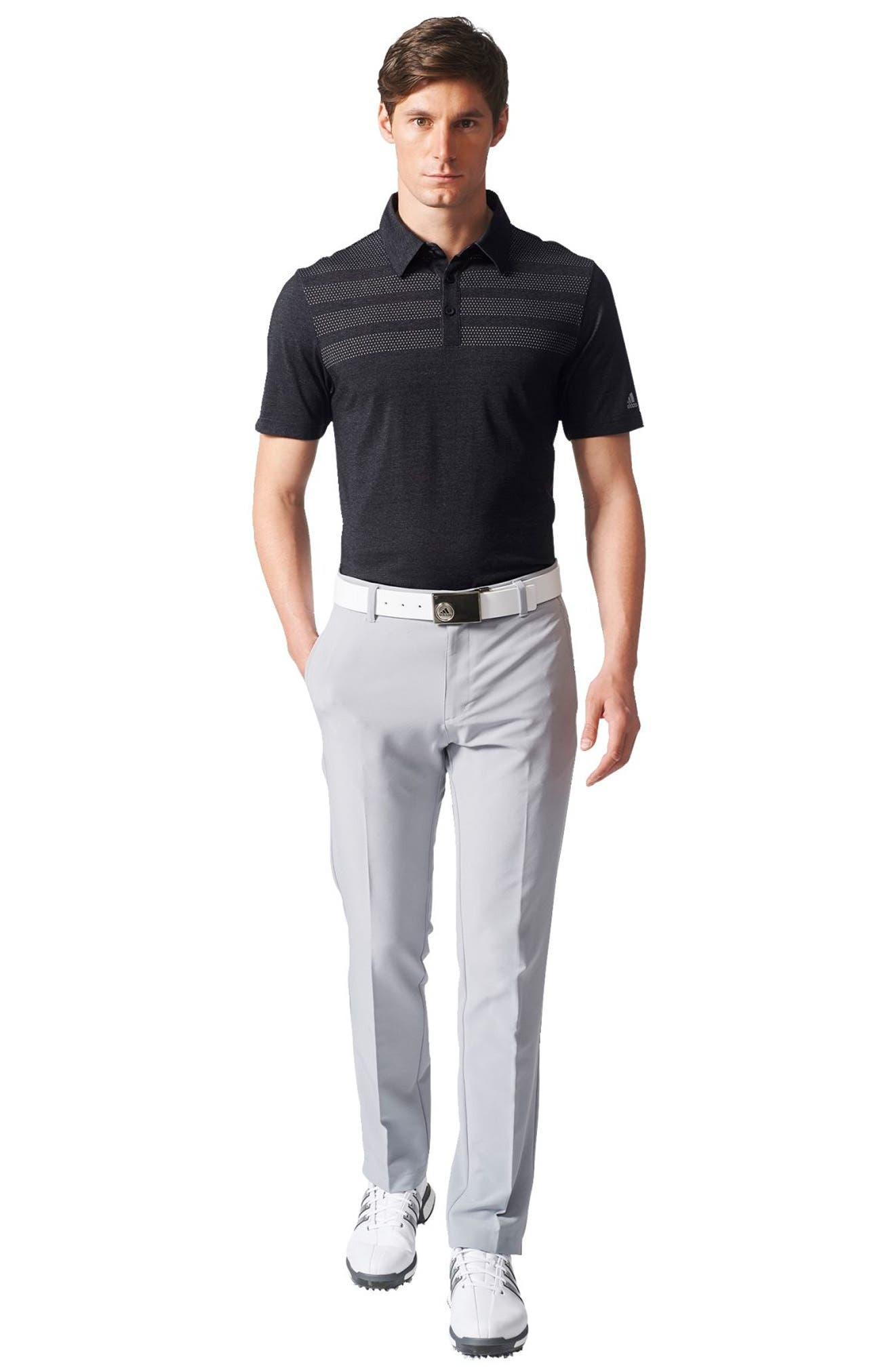 Climacool<sup>®</sup> 3-Stripes Mapped Polo,                             Alternate thumbnail 6, color,                             001