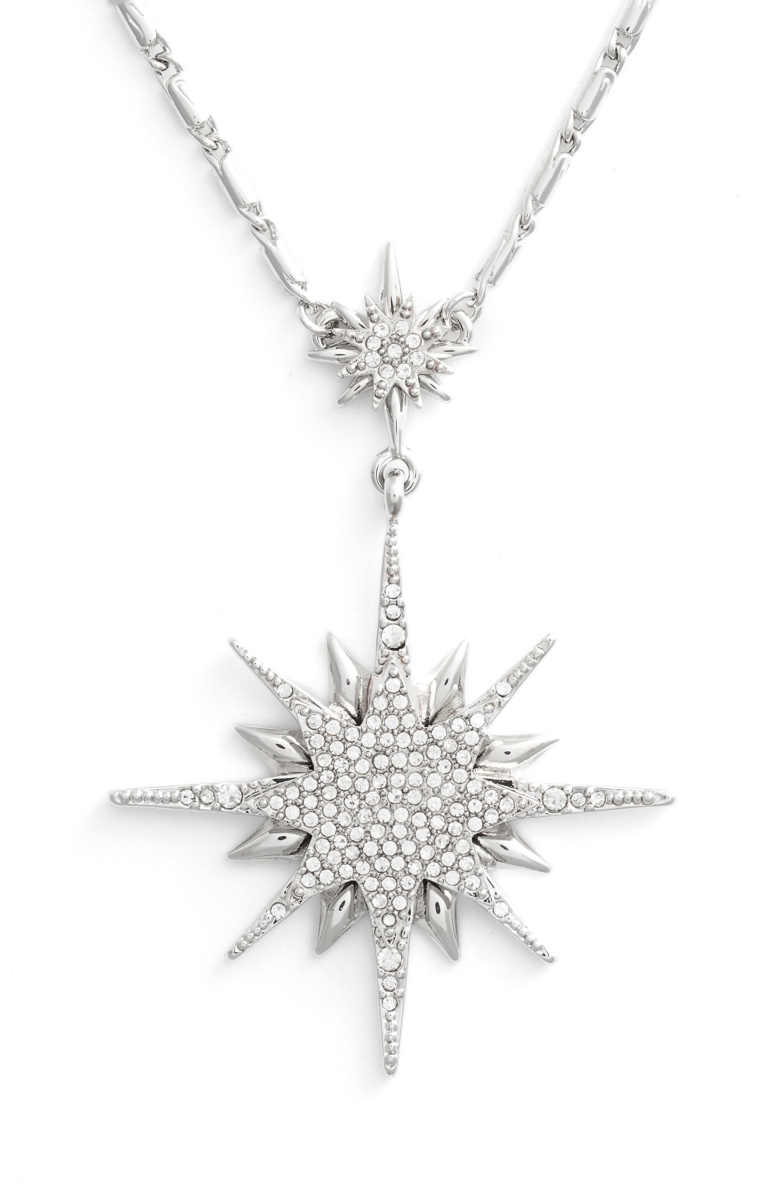 Crystal Starburst Pendant Necklace,                             Alternate thumbnail 2, color,                             040