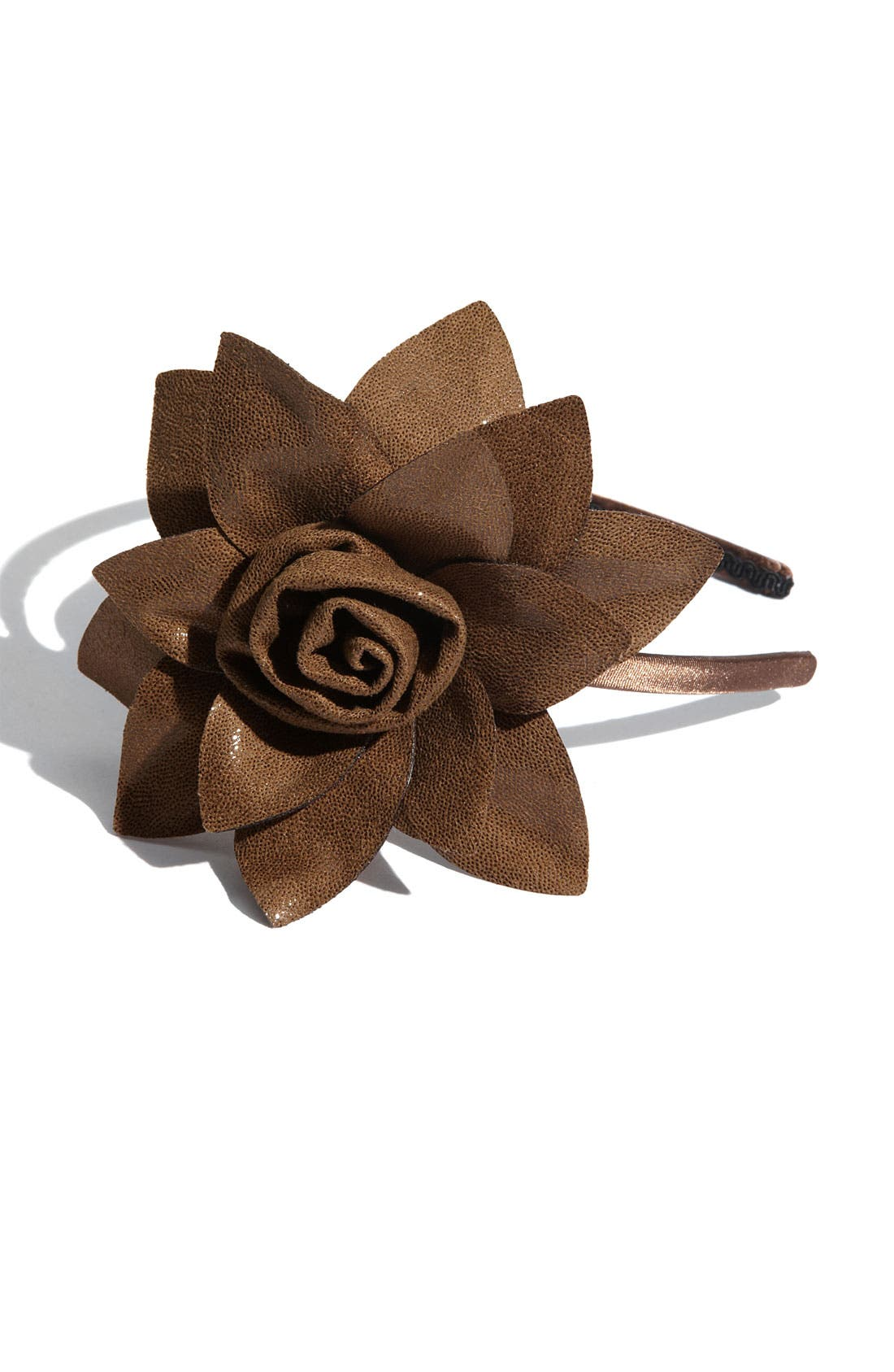 'Boa Rose Flower' Headband,                             Main thumbnail 3, color,